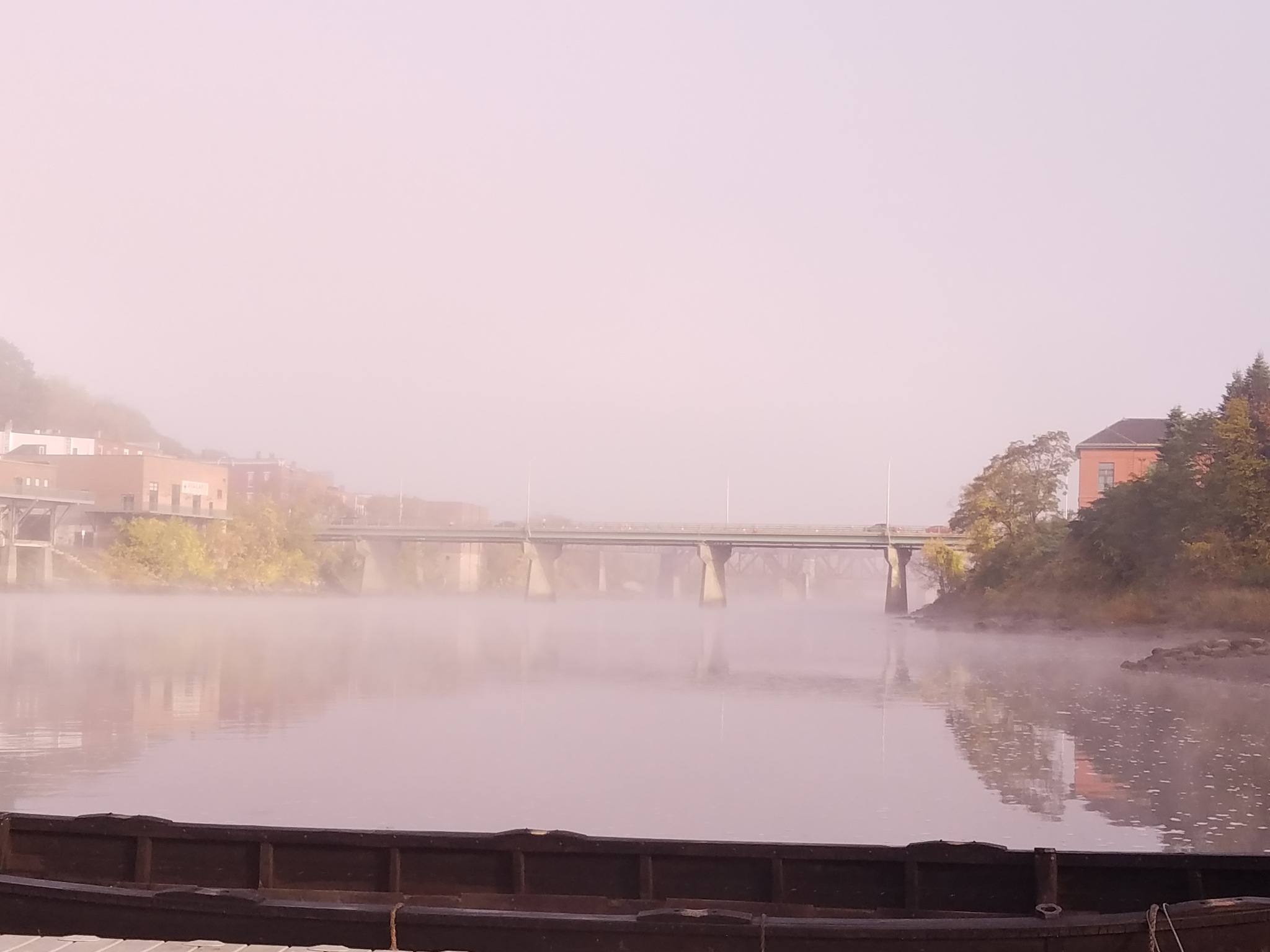 Foggy am river view by Cindy