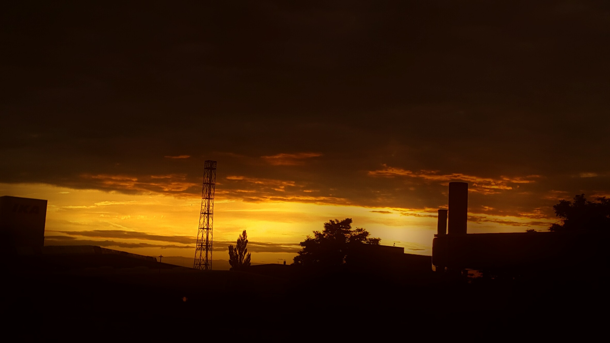 Sunset over the chemical Park by FOTO Bjoern