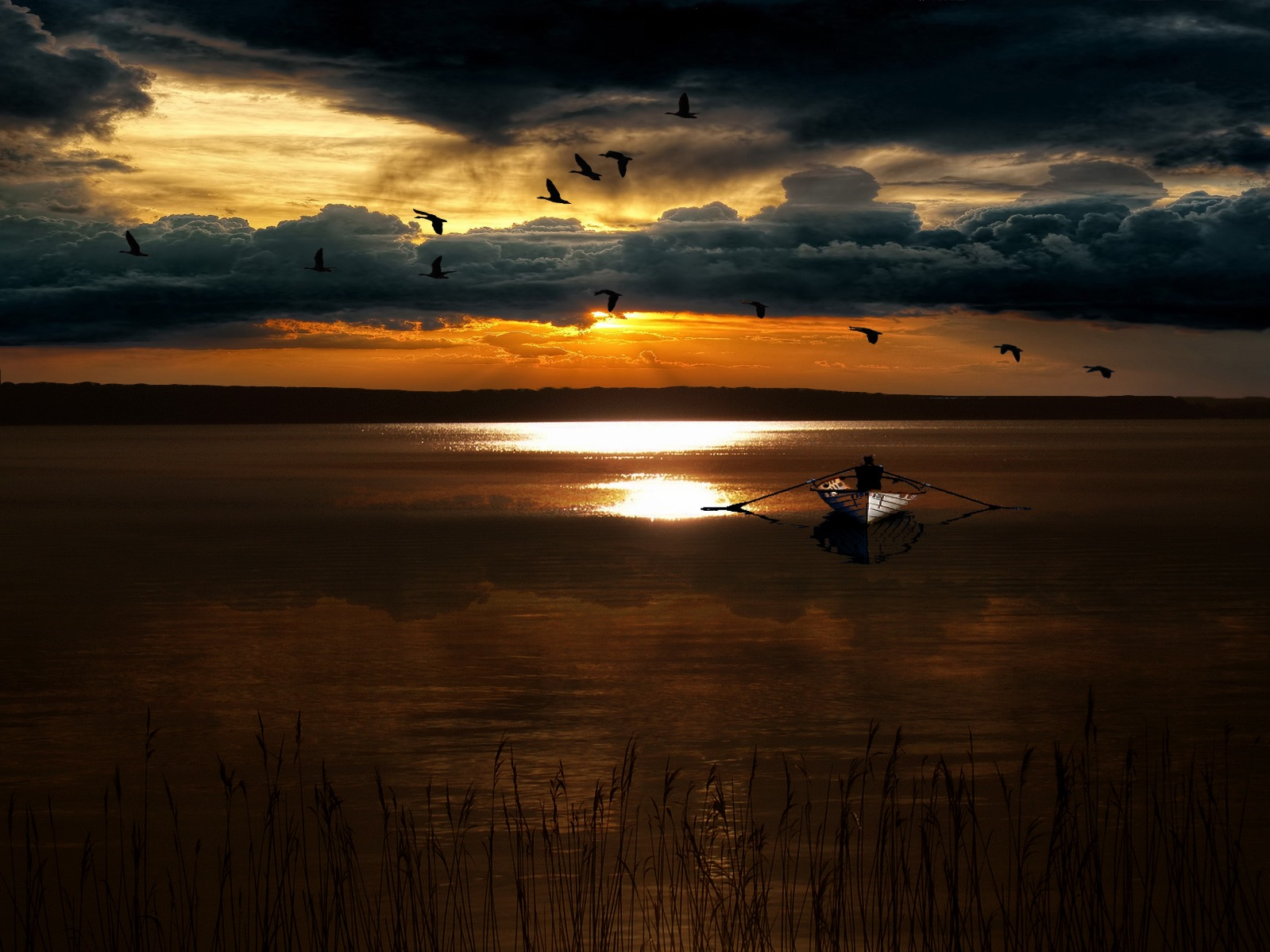 Afternoon fishing by Per Lindskog
