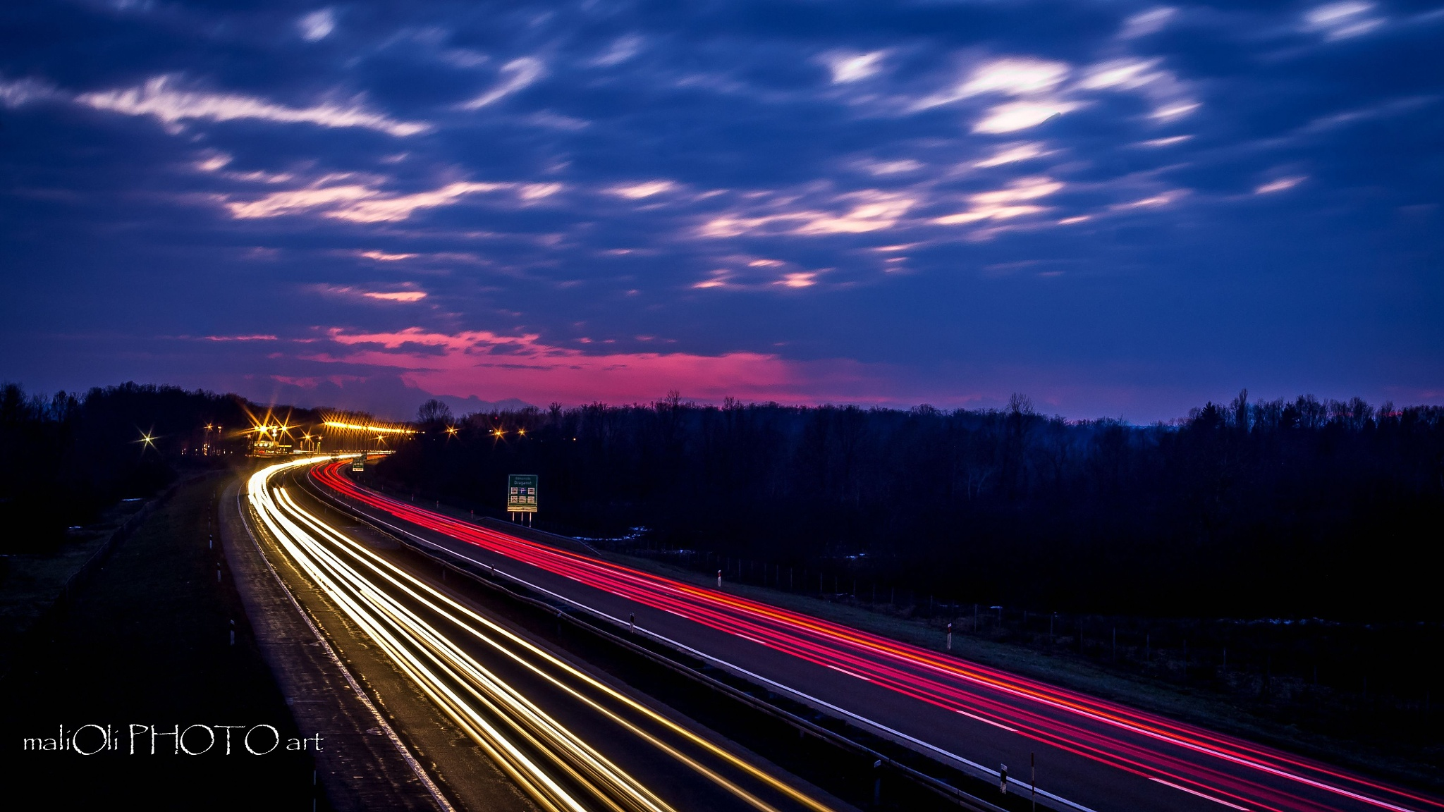 On the road in the twilight  by oliversvob