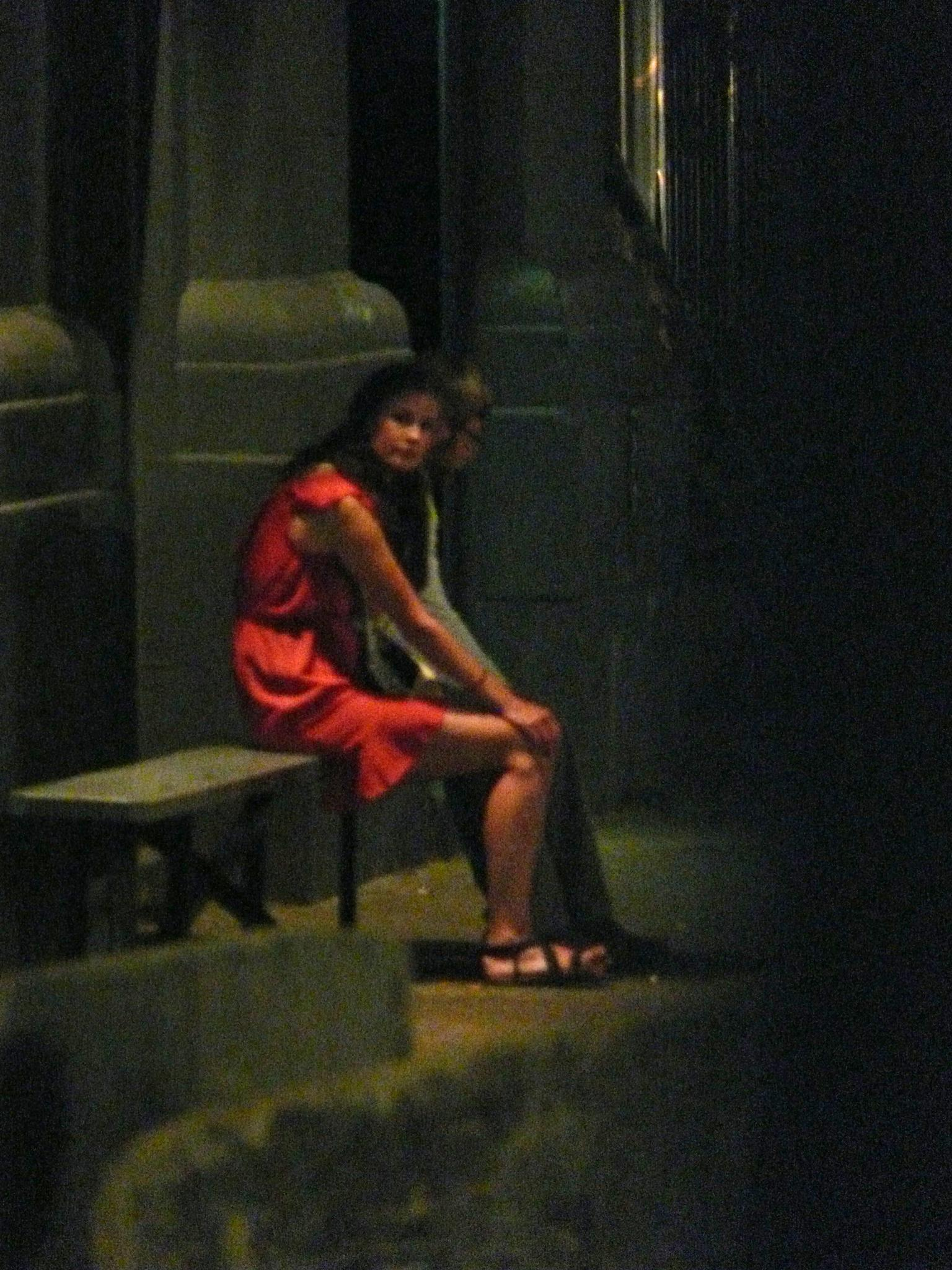 Girl in Red Dress. by jim.shaw.1238