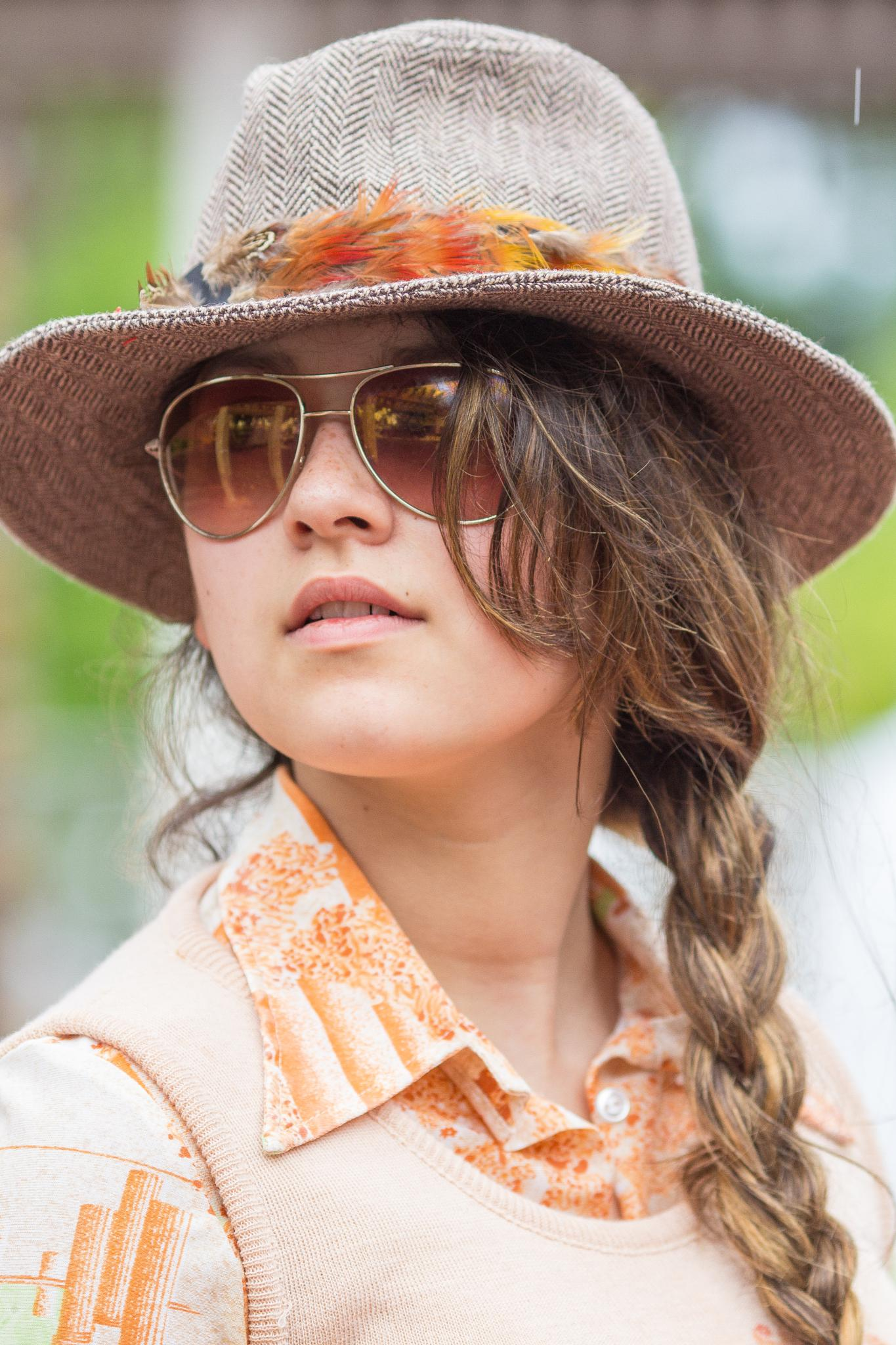 Vintage Fedora & Butterfly Collar  by The Butterfly Huntress
