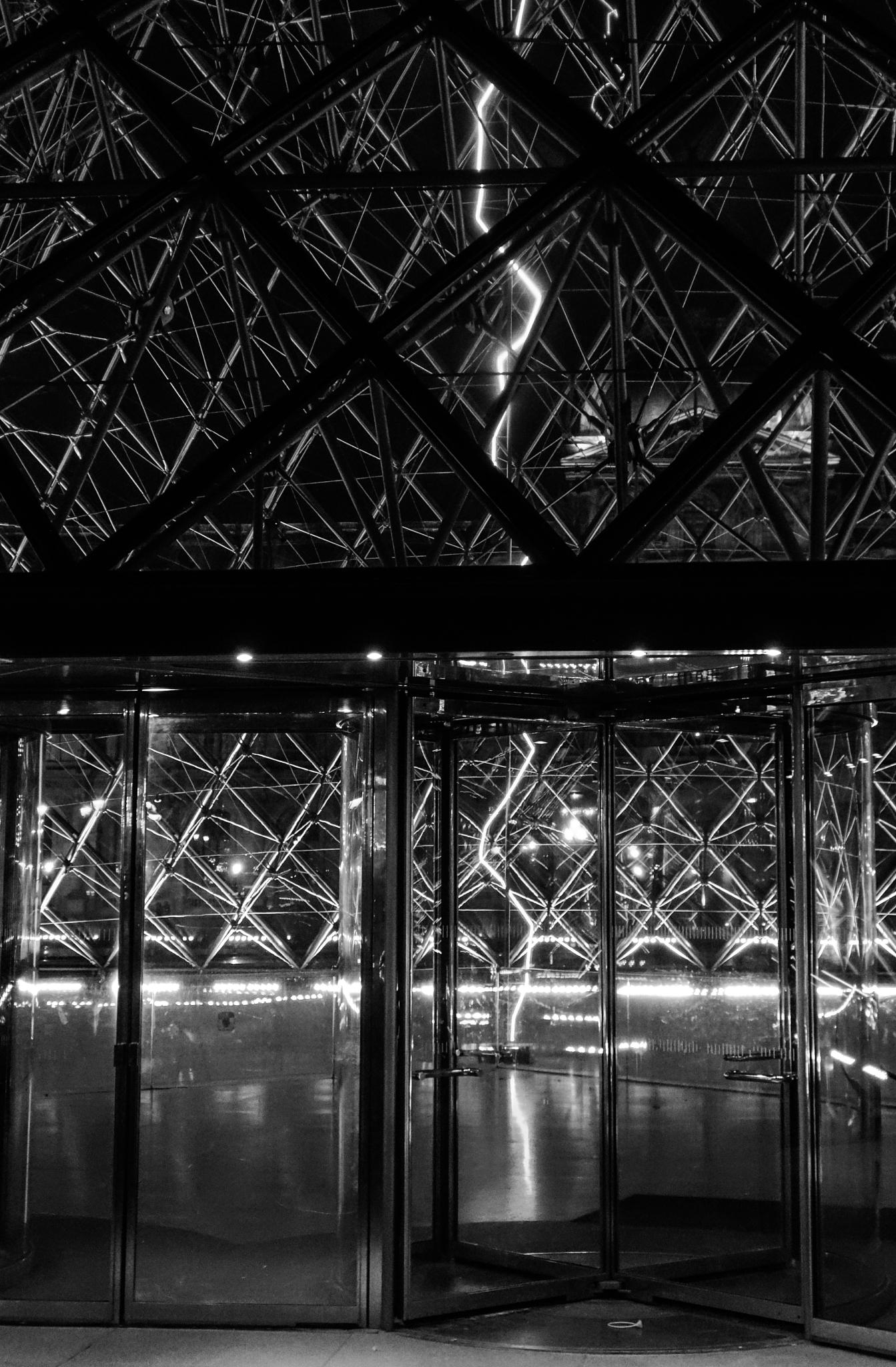 Louvre Lightning by Carolyn Chase
