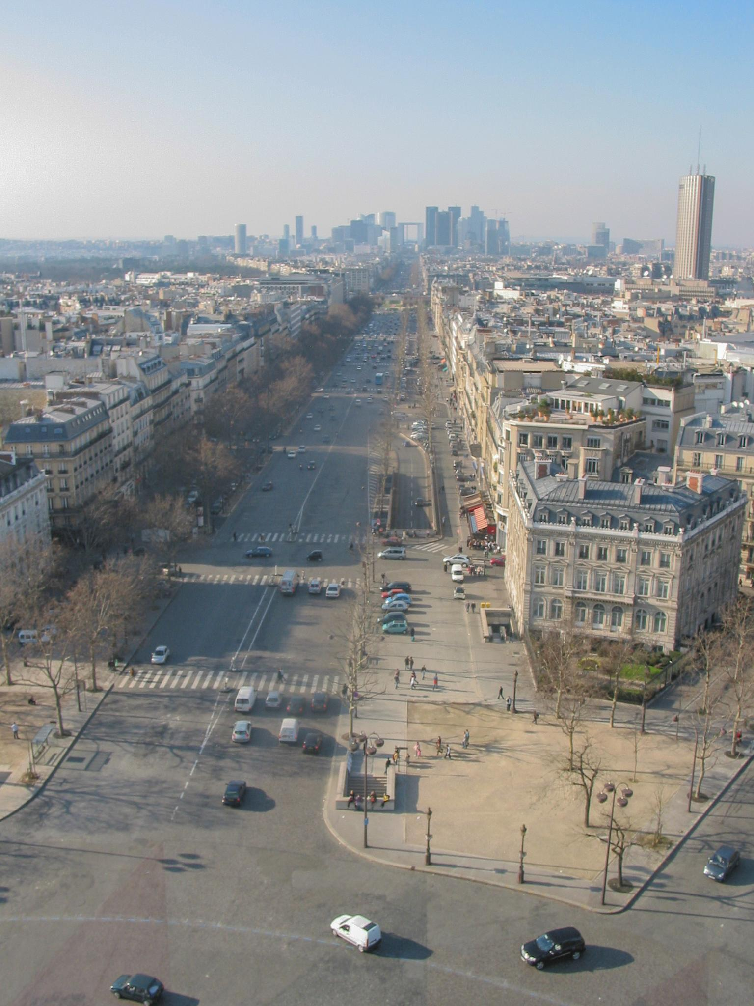 View from Arc de Triomphe by Carolyn Chase