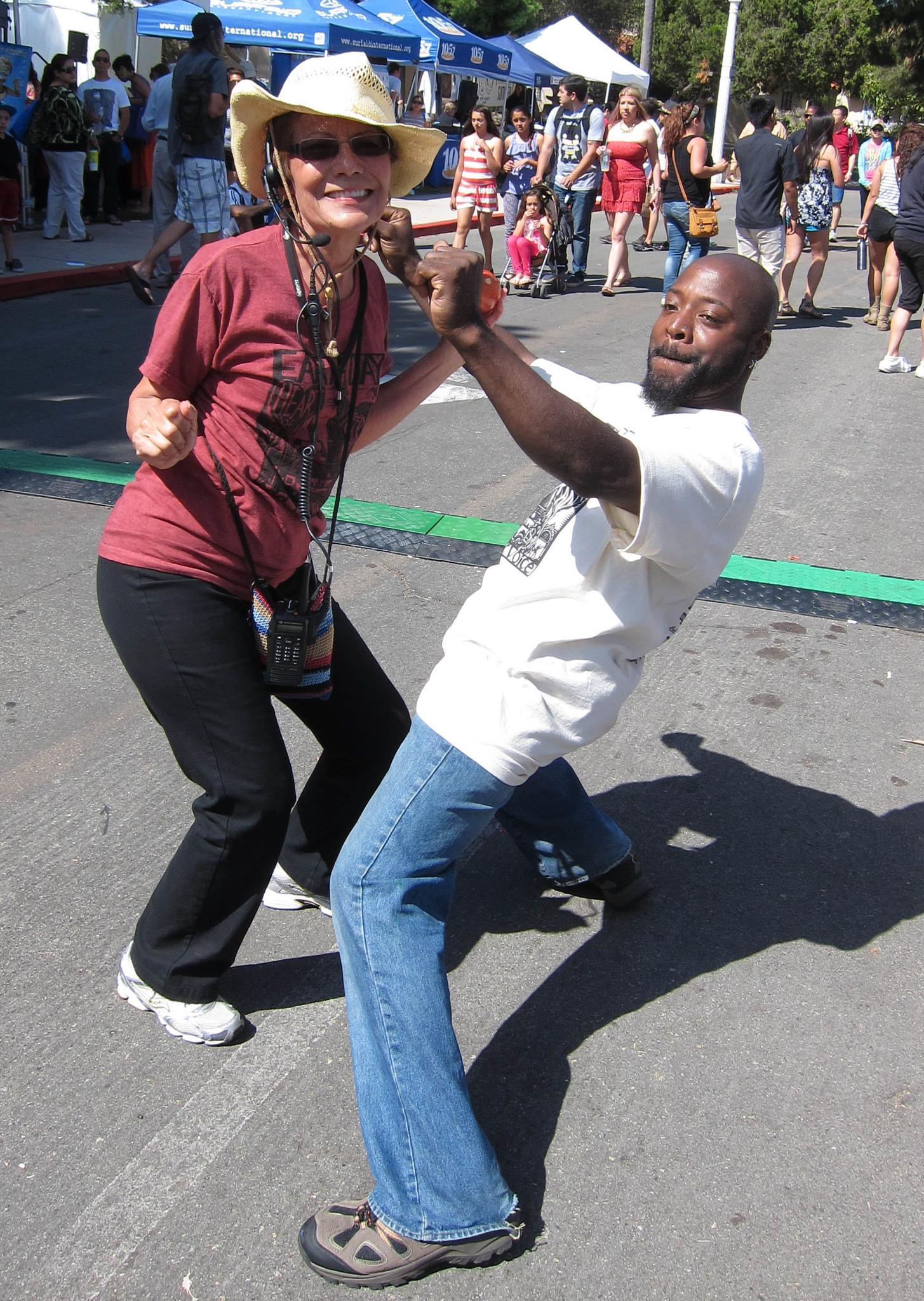 Dancing Volunteers by Carolyn Chase