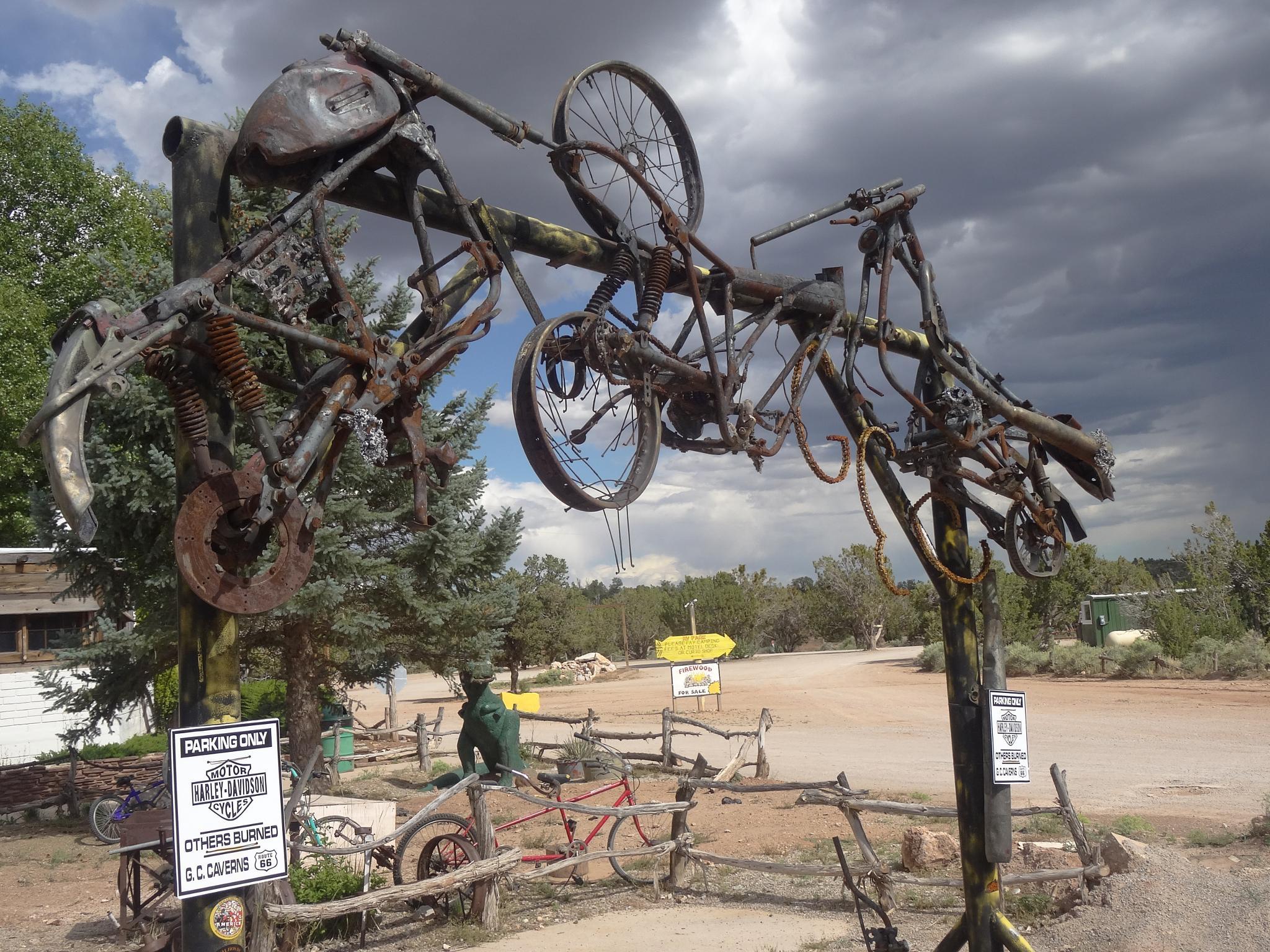 Route 66: Arizona Bike Parking 2 by Carolyn Chase
