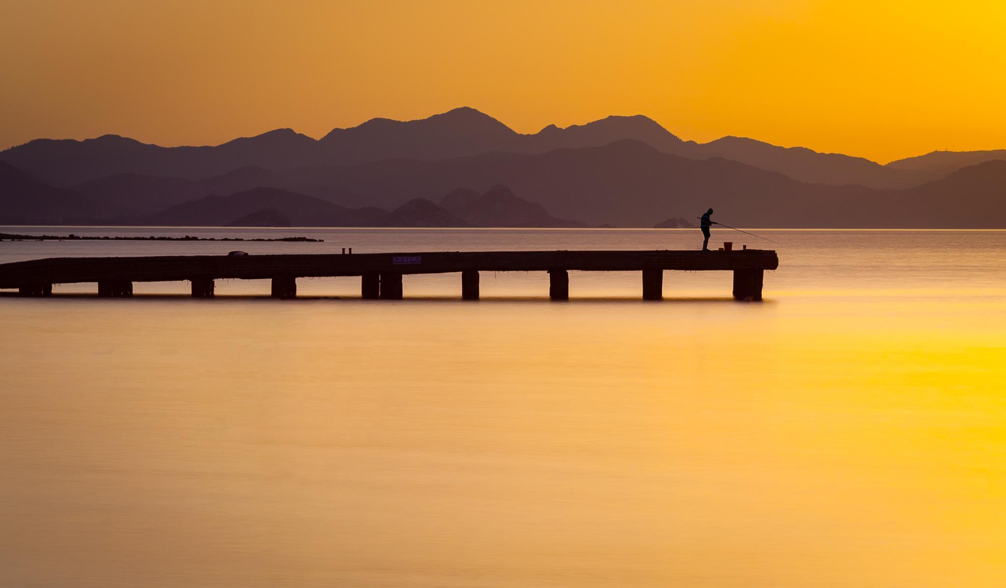 The Lone Fisherman by Steven Johnson