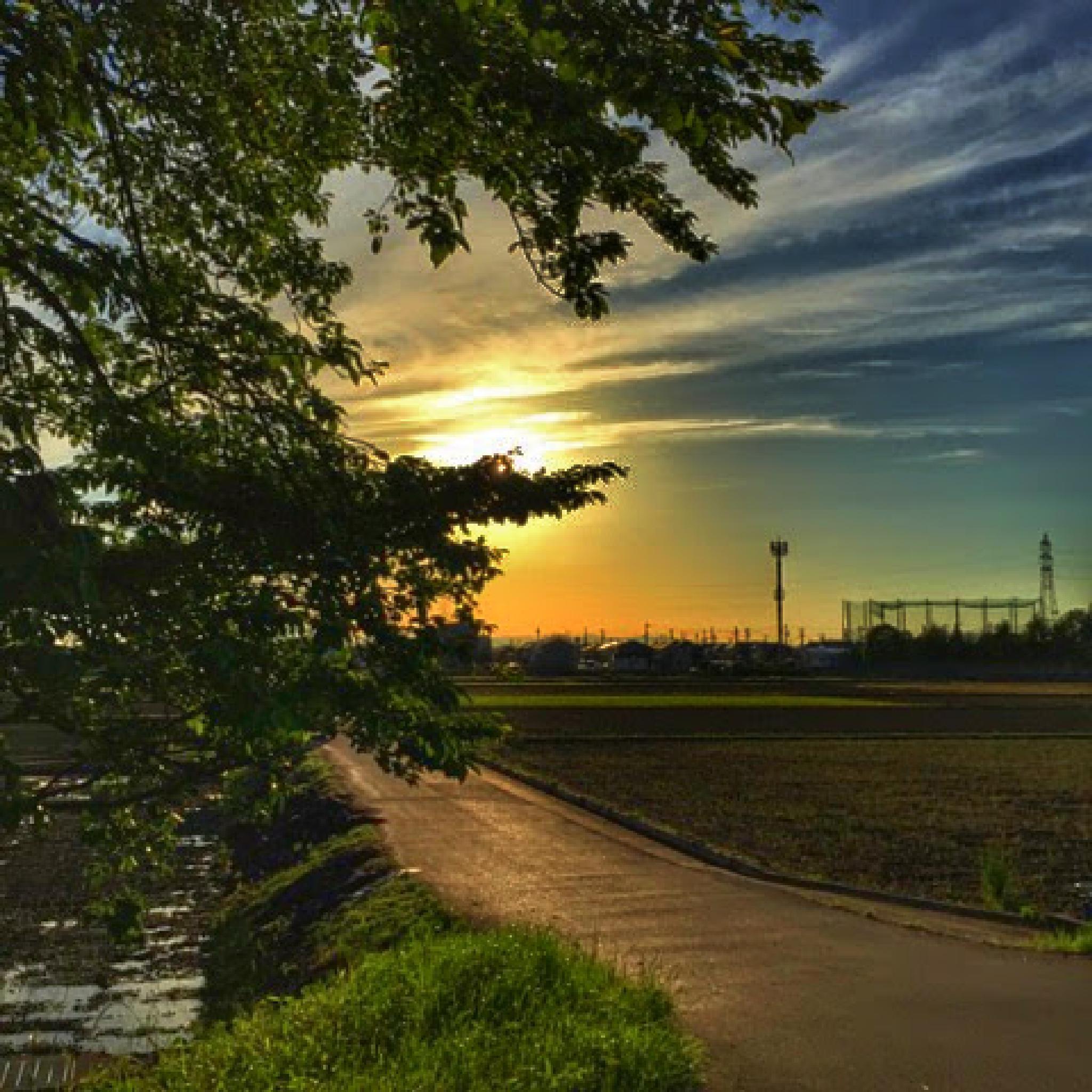 Sunset... by jessy b