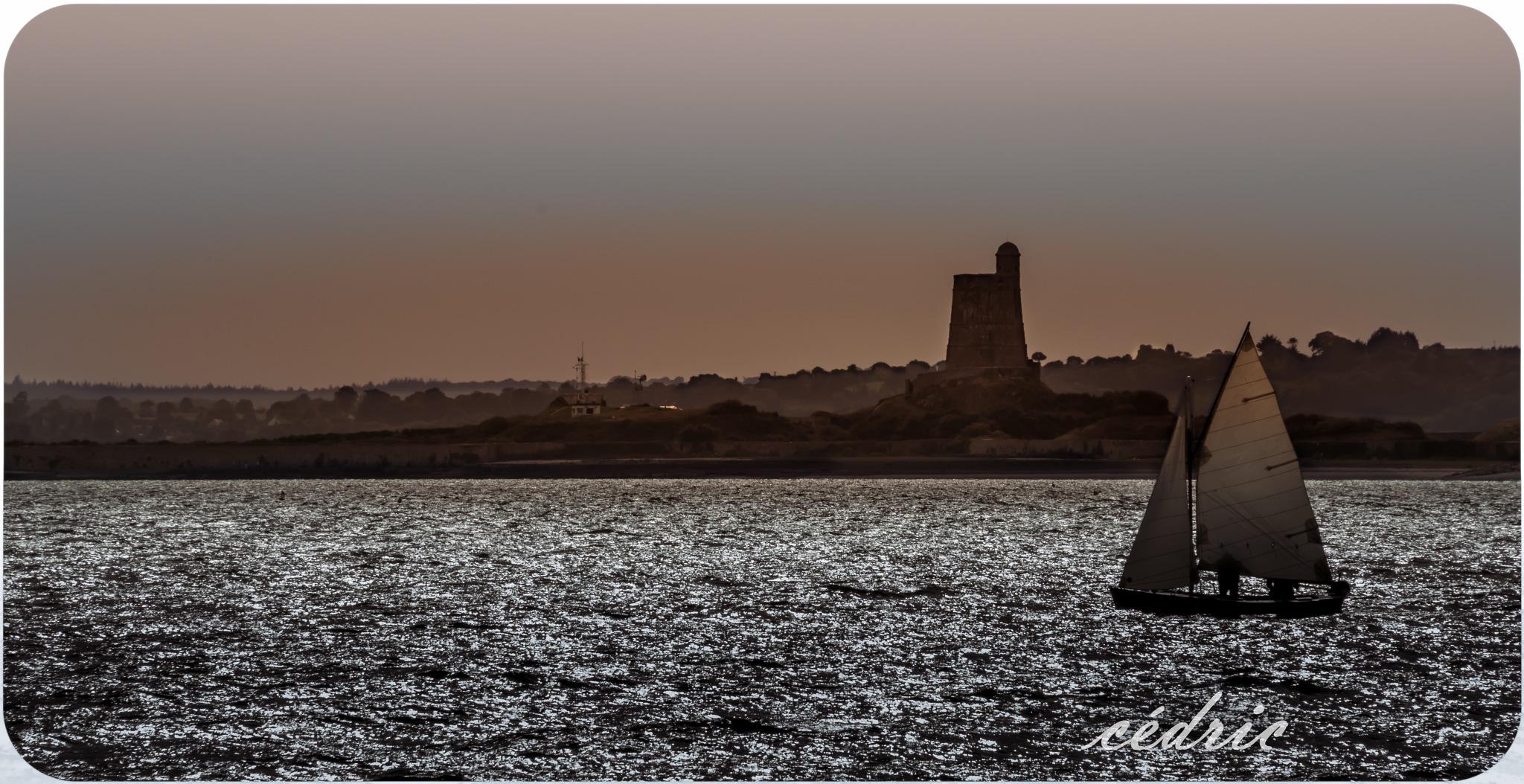 voilier au large de l'ile de tatihou by cedricloy8