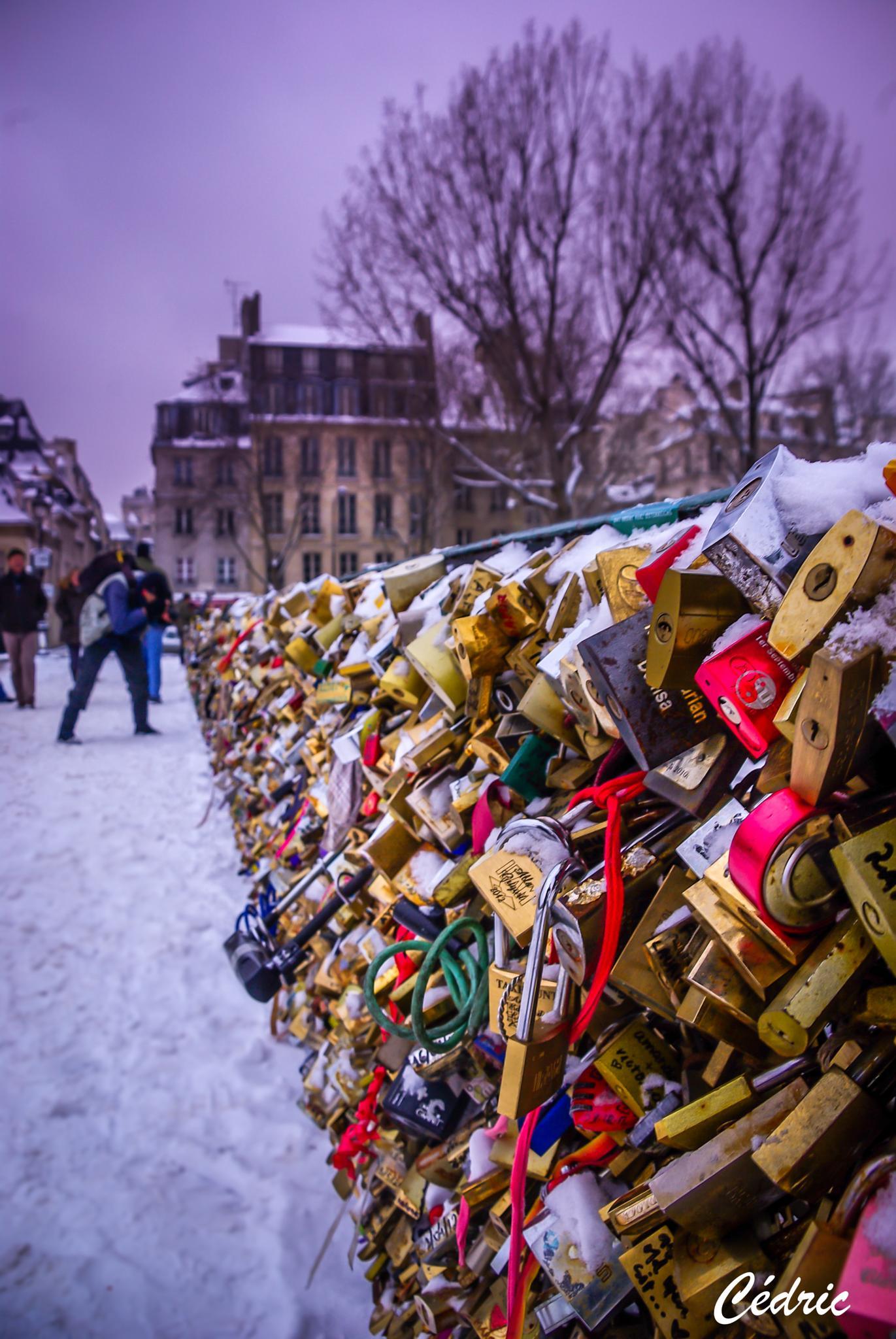 cadenas de l'amour, notre dame de Paris by cedricloy8