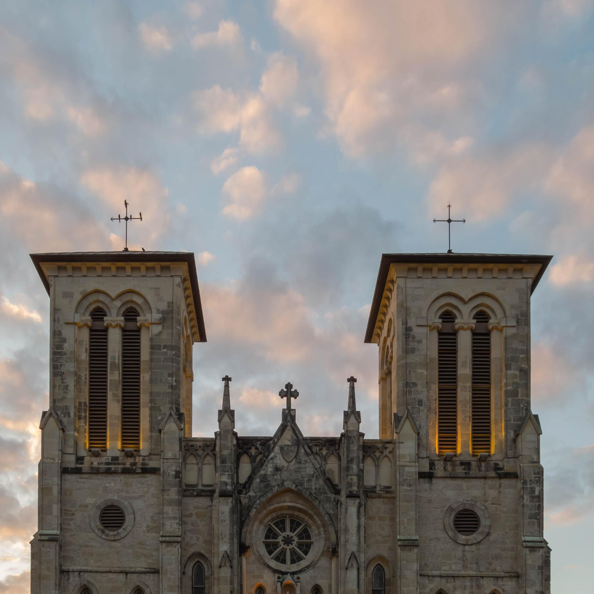 Sunset Over the Historic San Fernando Cathedral by Jill Rapley