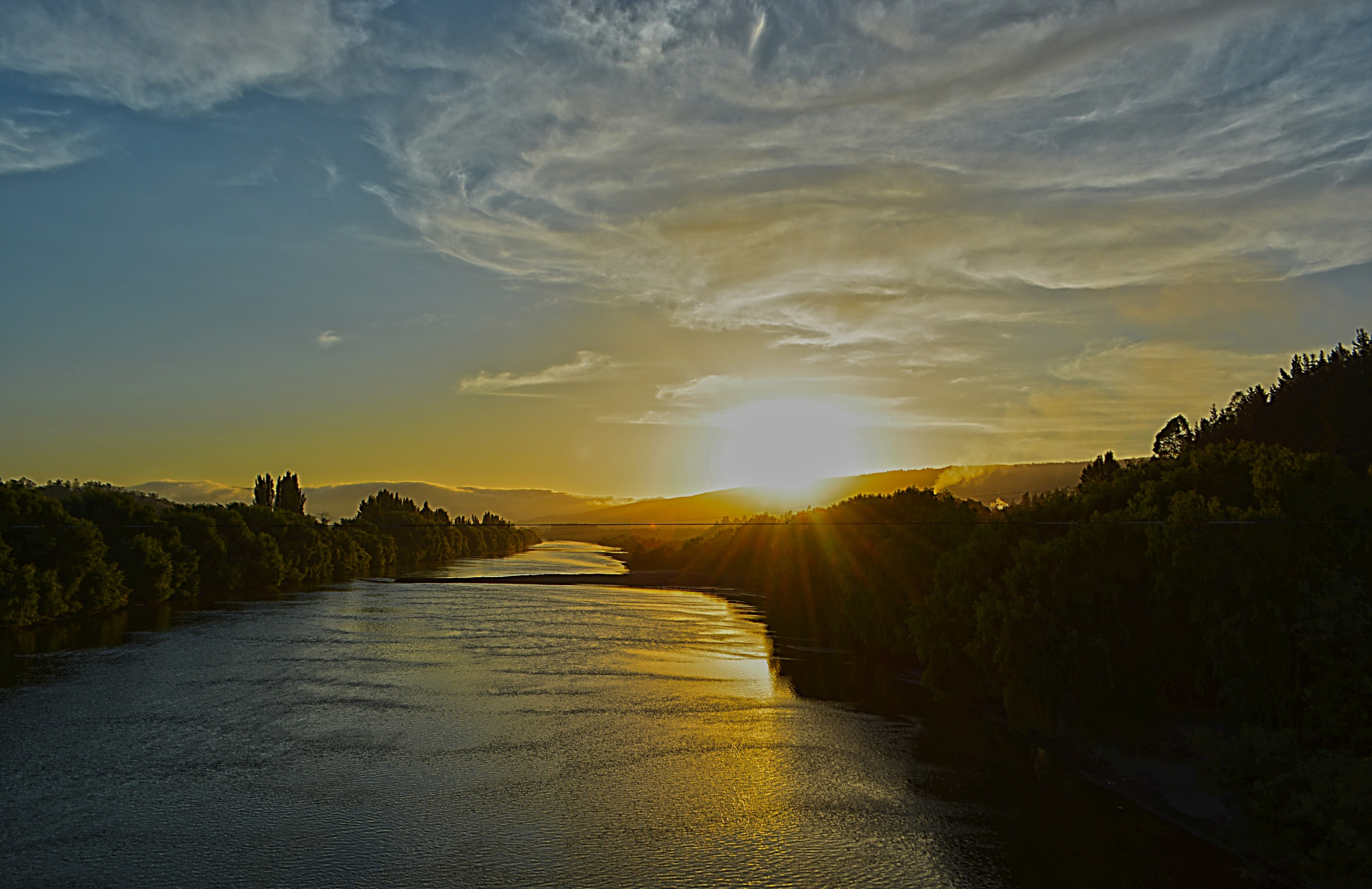 Sunset on the River by CarlosVenegas.
