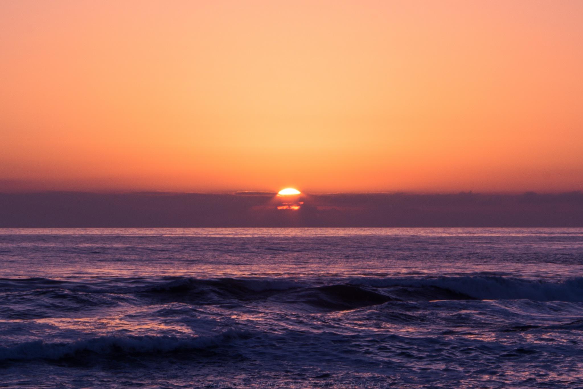 Sunset on the Sea by CarlosVenegas.