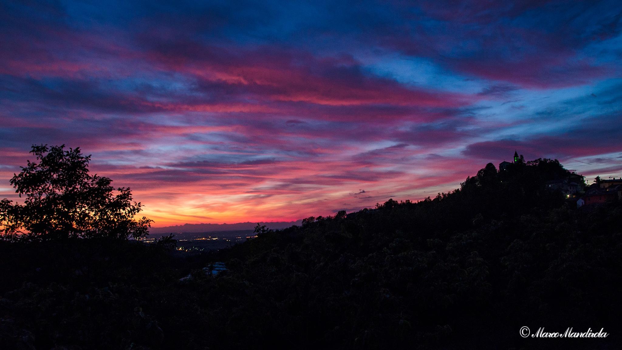 Colorful sunset by Marco Mandirola
