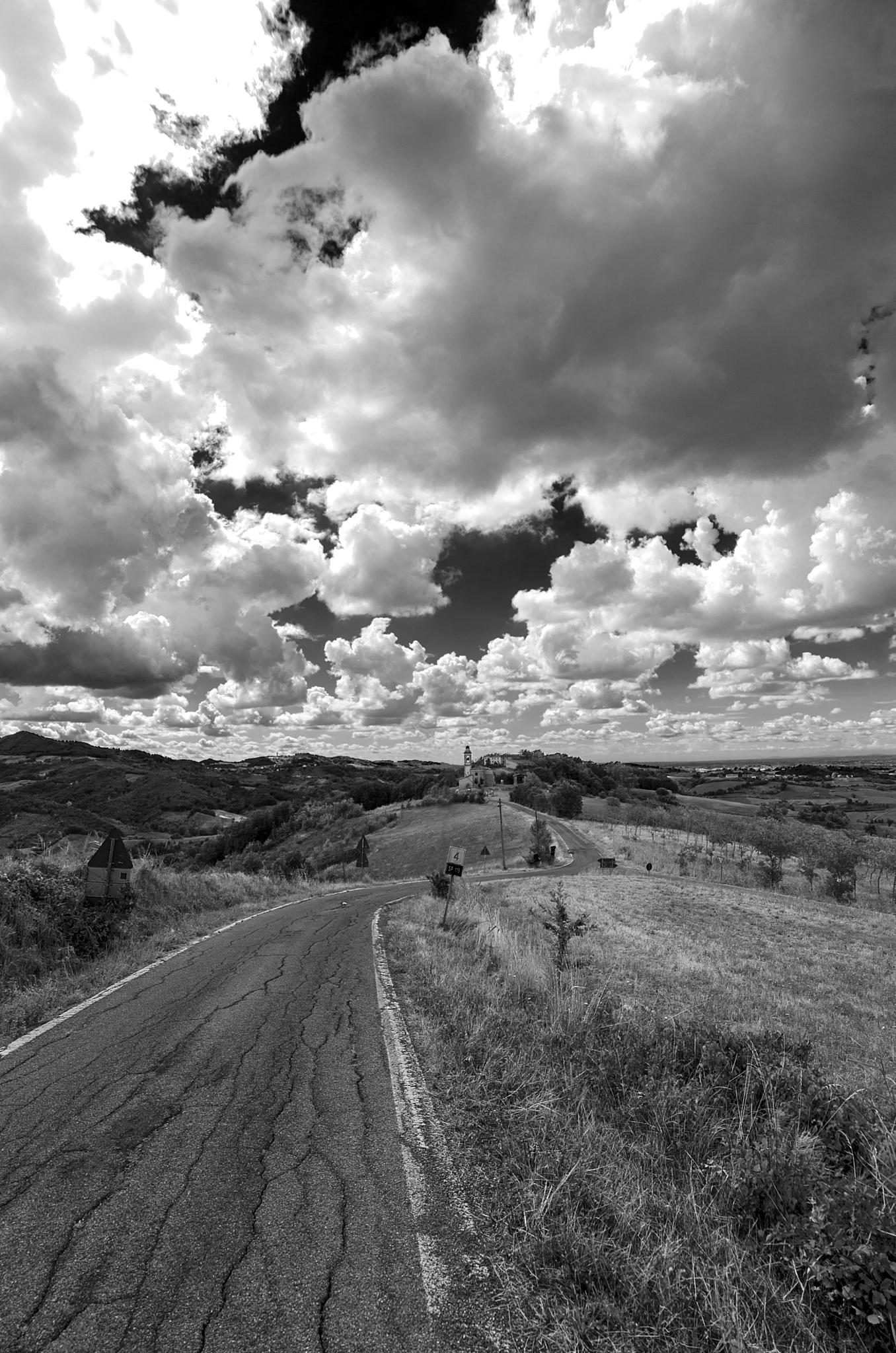 Cloudy plans.... in B&W by Marco Mandirola