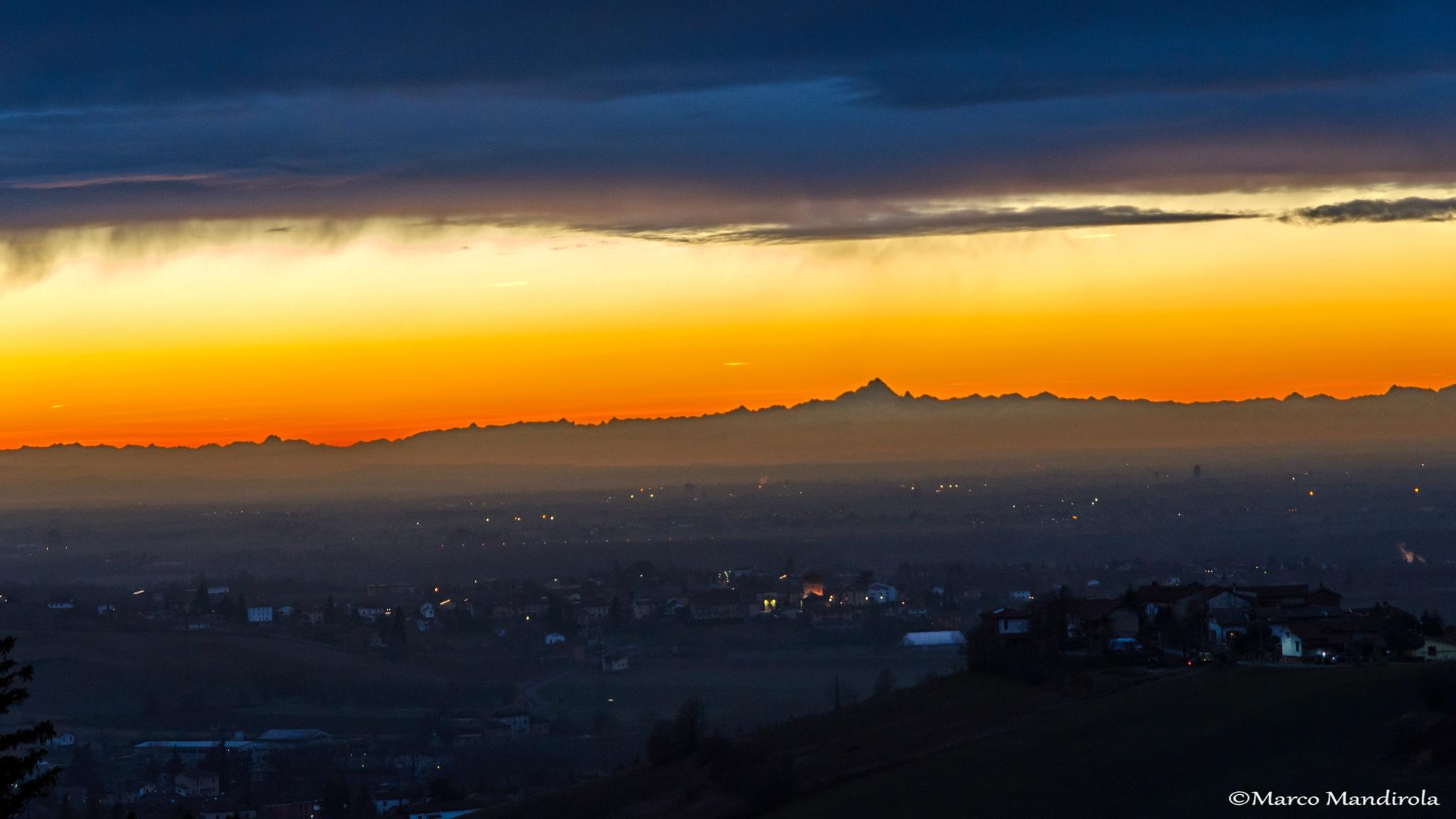 Winter Sunset from Fonti by Marco Mandirola