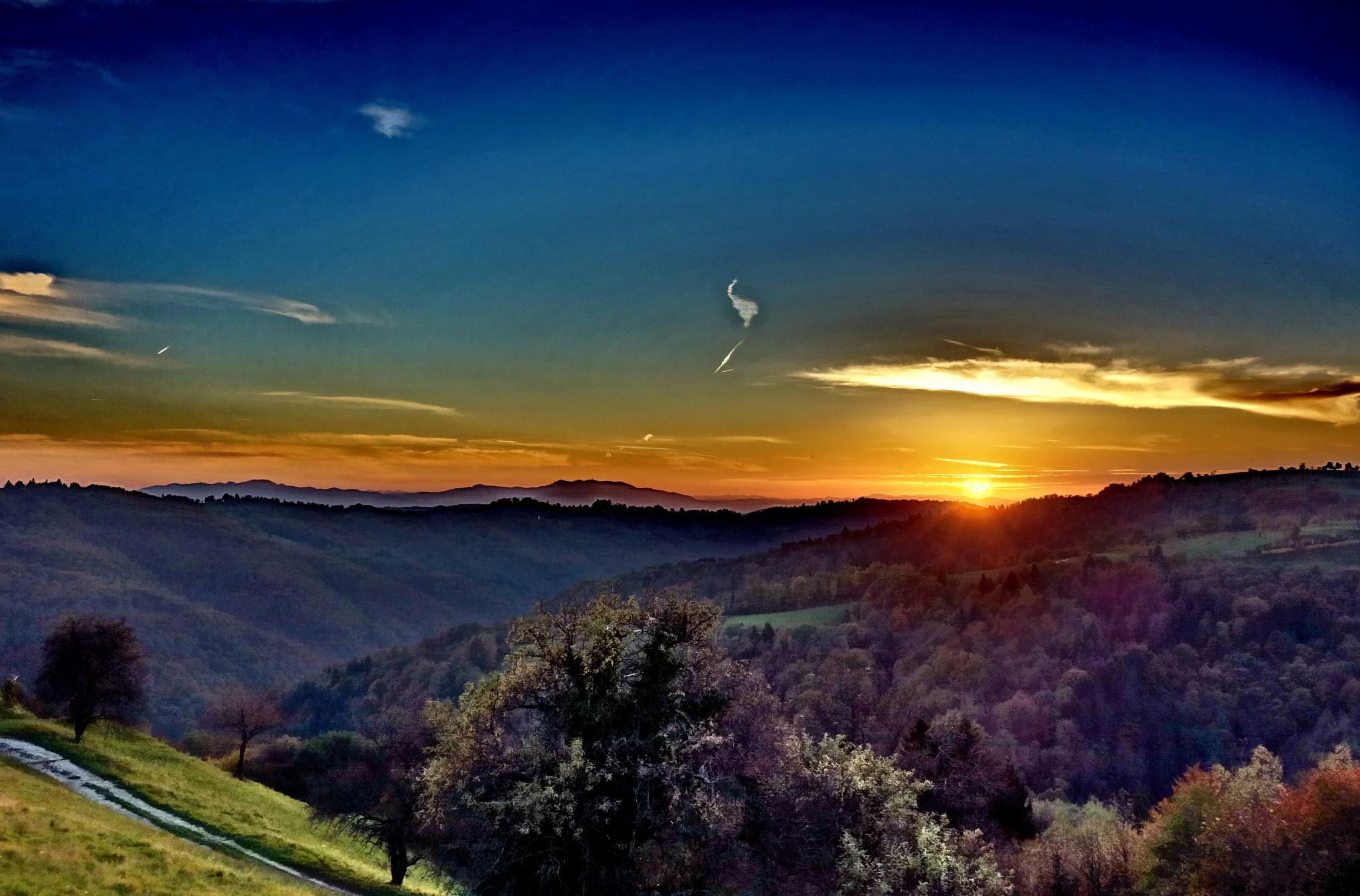 sunset from Janče by BernardaBizjak