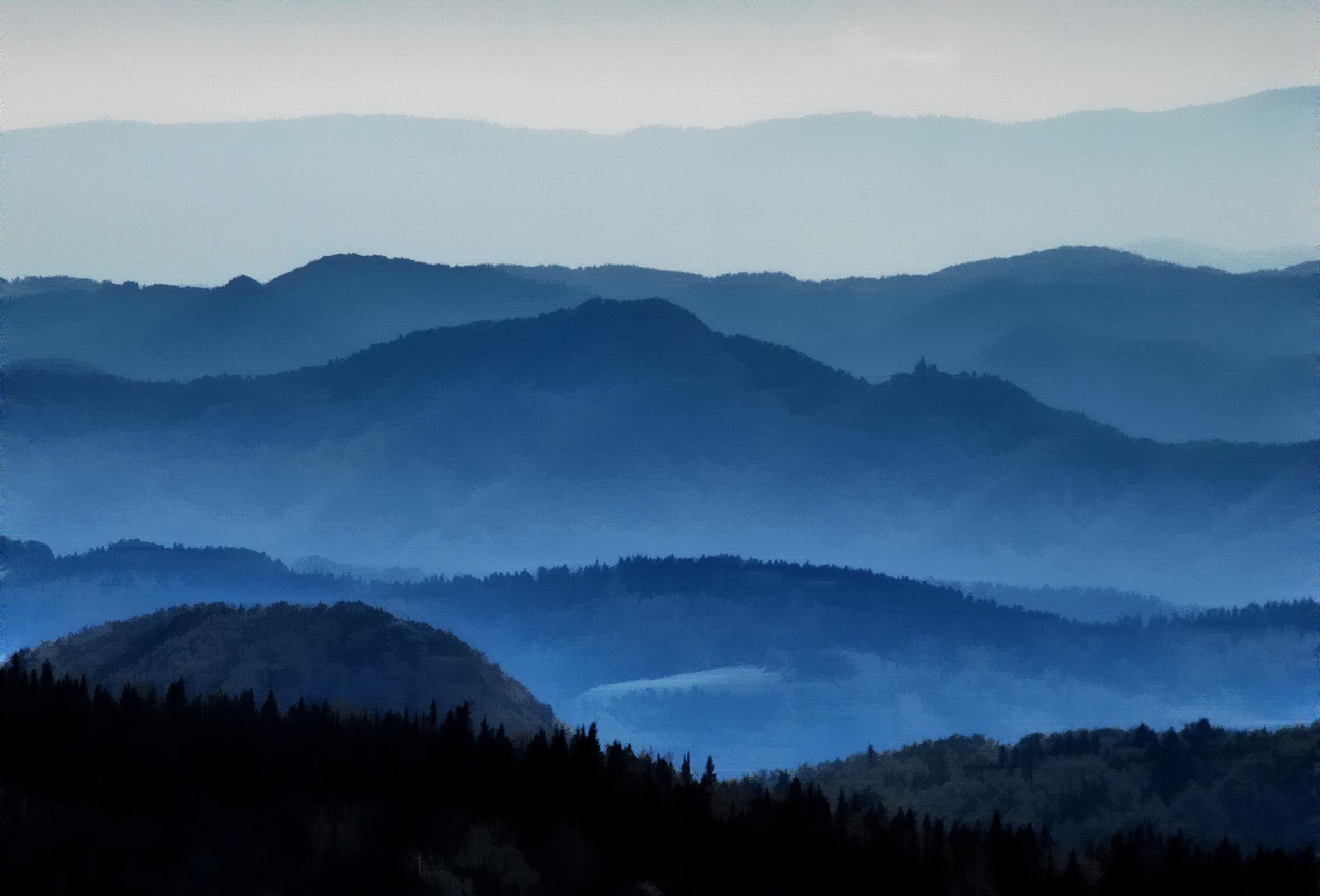 view from the mountain Velika planina, Kamniške Alpe, Slovenia by BernardaBizjak