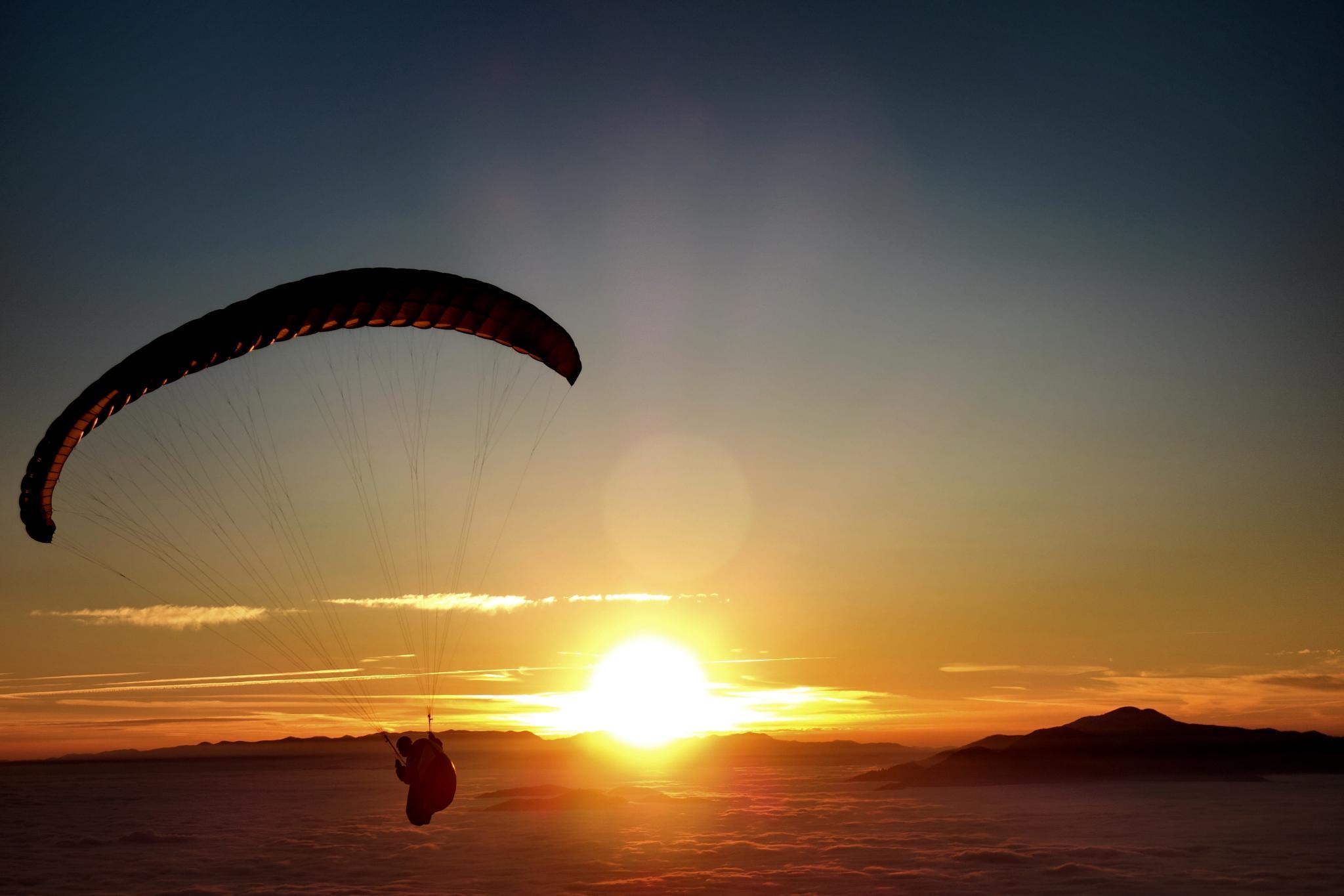 flying to the sun above fog by BernardaBizjak