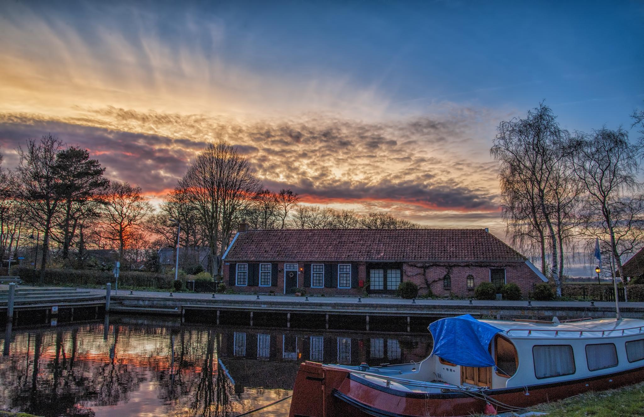 Noordlaren Harber Sunset by R van Wijk