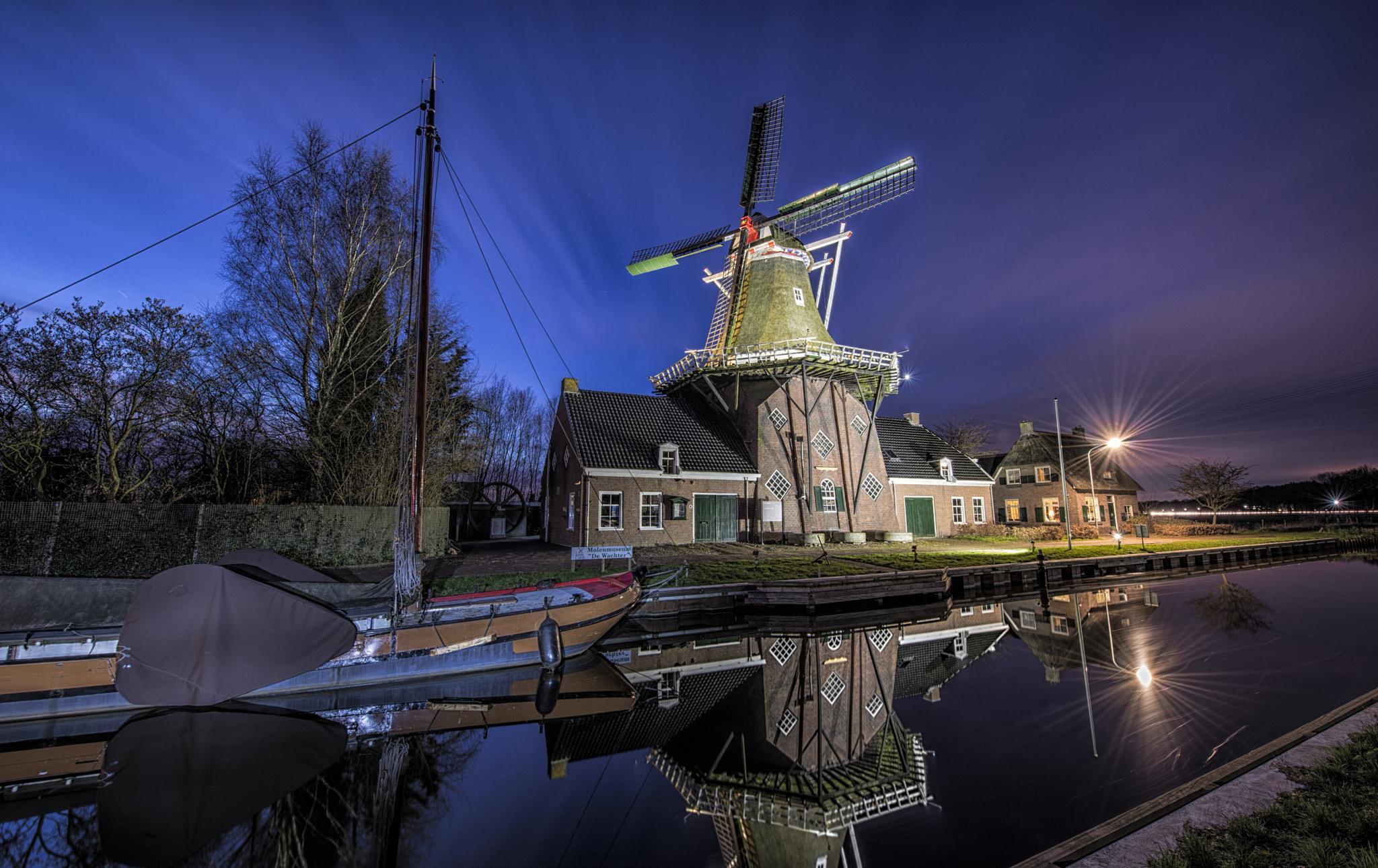 Zuidlaren Mill by R van Wijk
