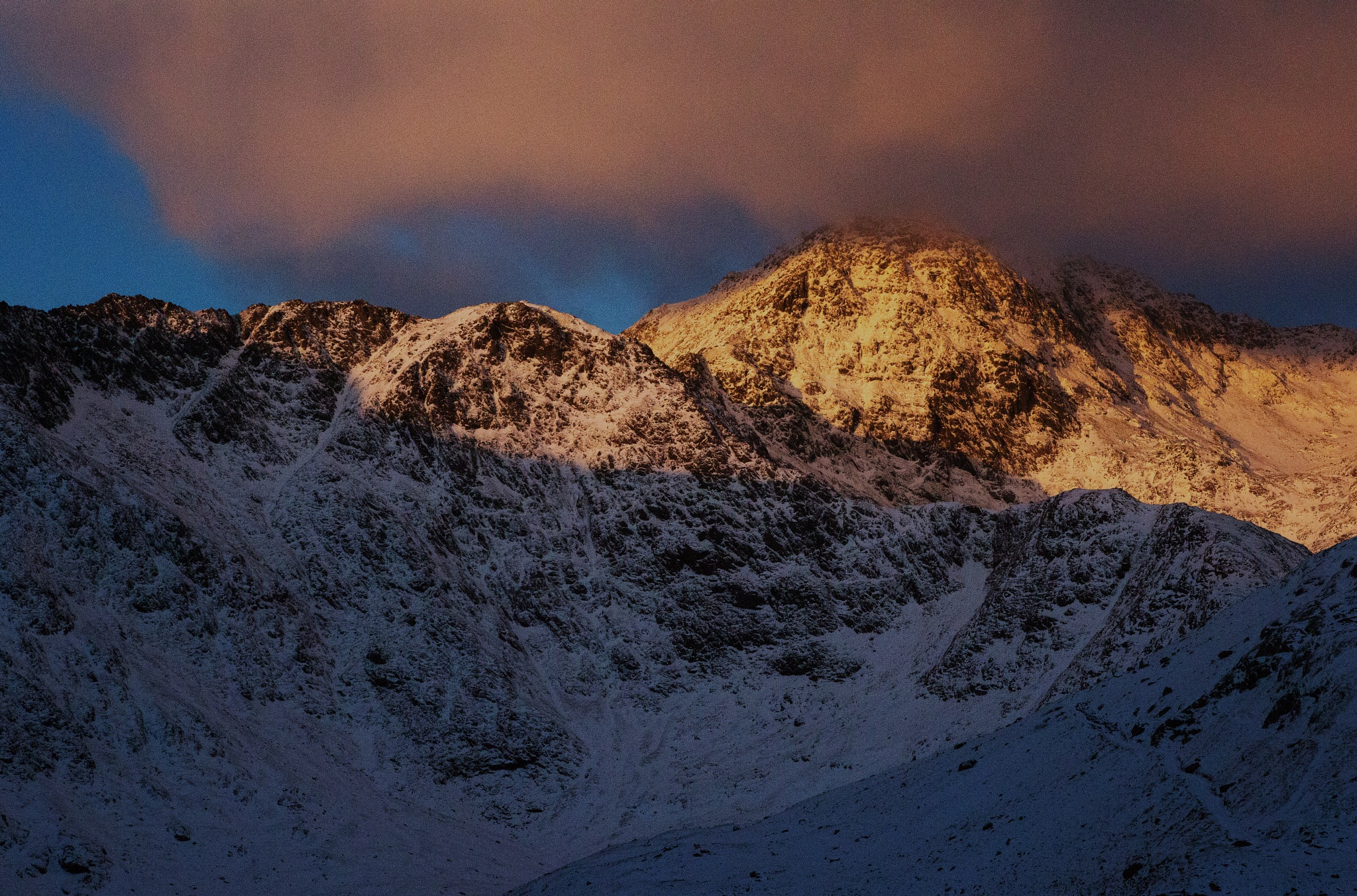 Snowdon in early morning lght by Gordon Dryden