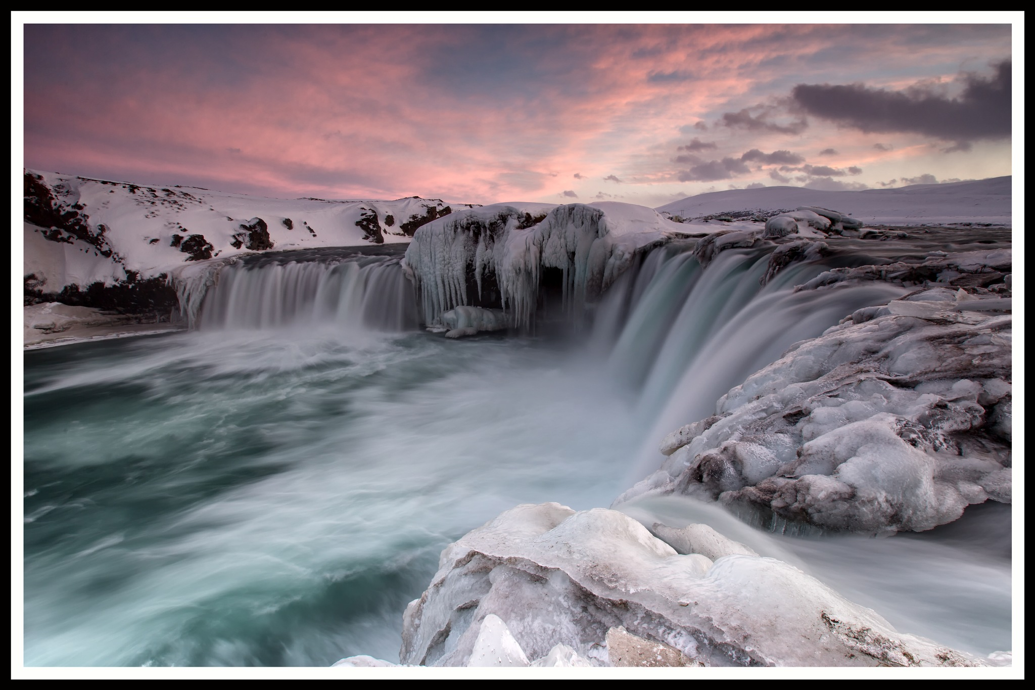Goðafoss sunset by Gordon Dryden