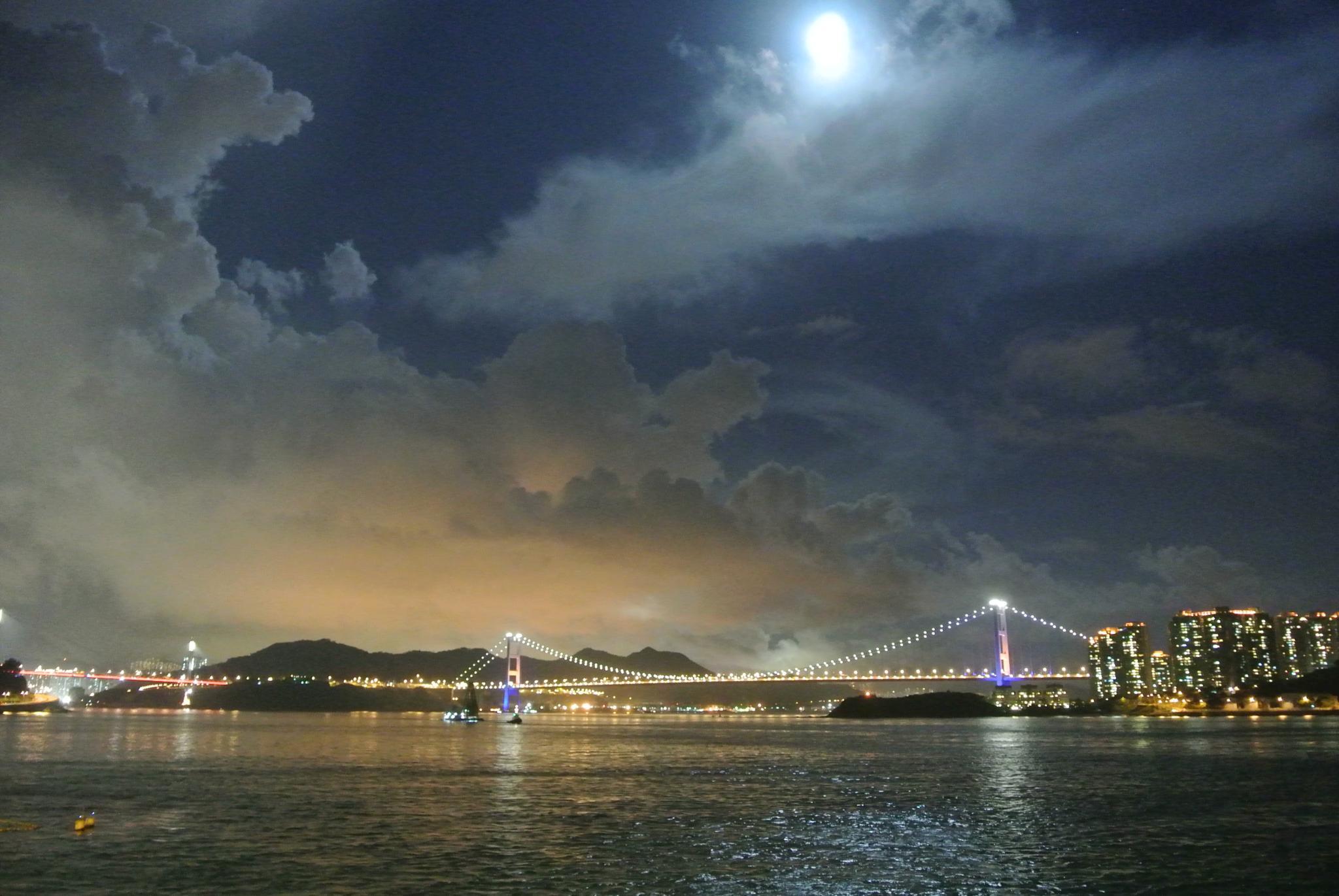Tsing Ma & Ting Kau Bridge by Donald Wong