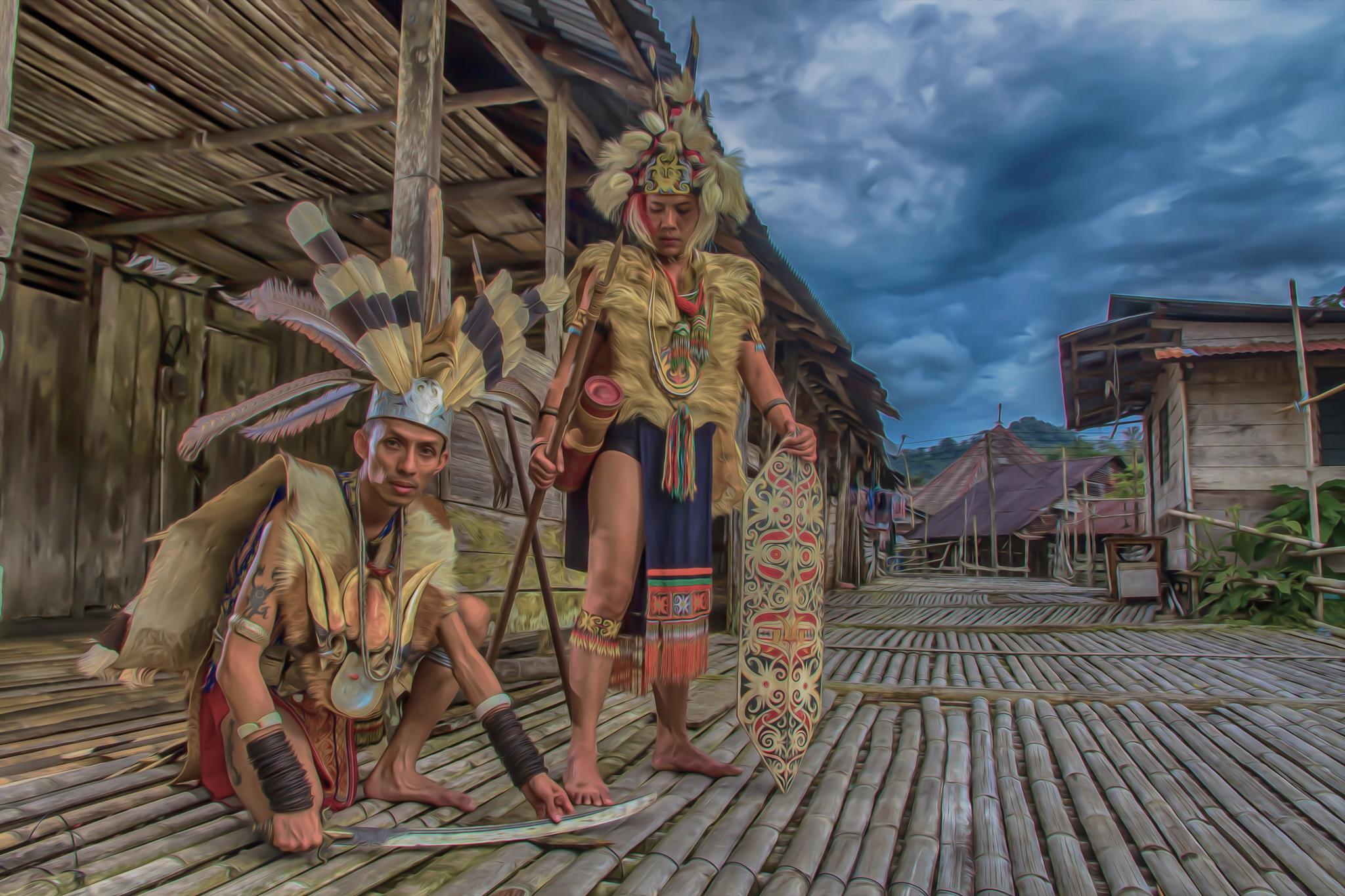 Bornean warriors by BakirBujang