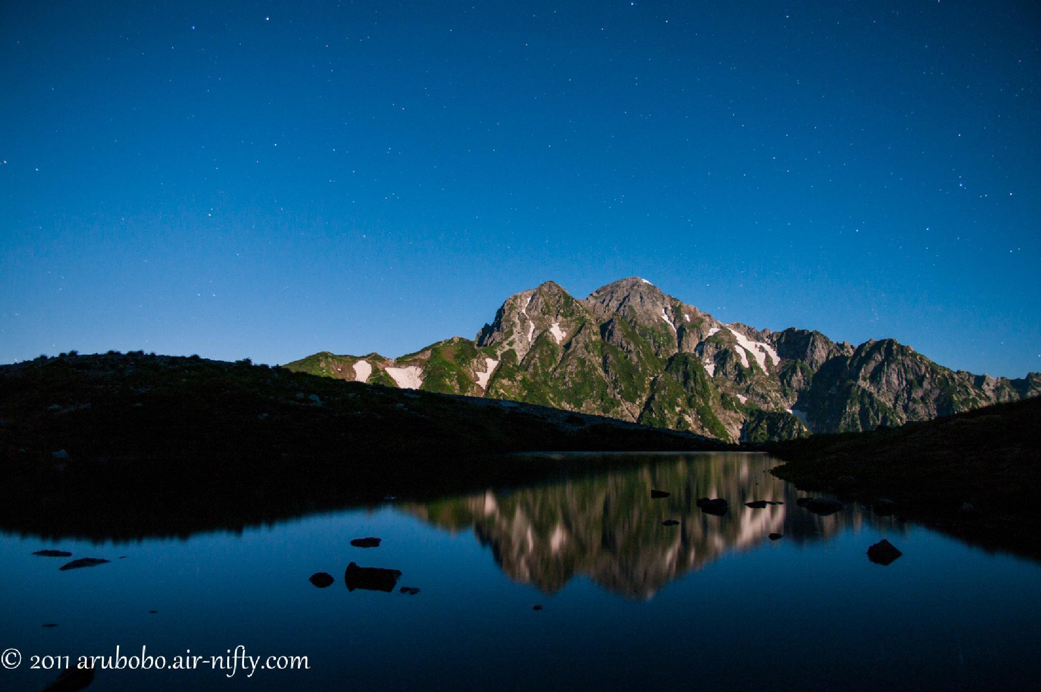 Moonlight Mt. Tsurugidake by katuhico.kumazaki