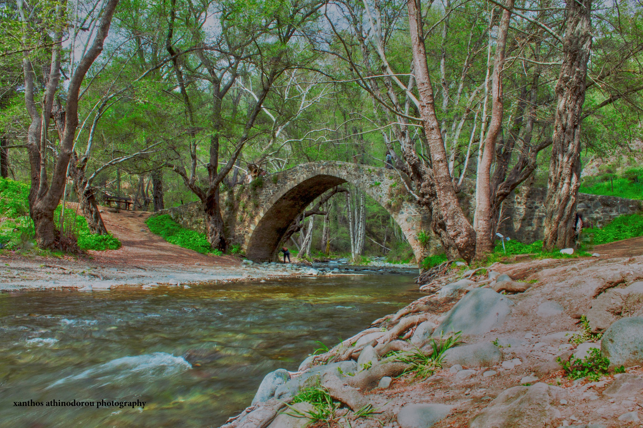 Medieval Bridge by Xanthos Athinodorou