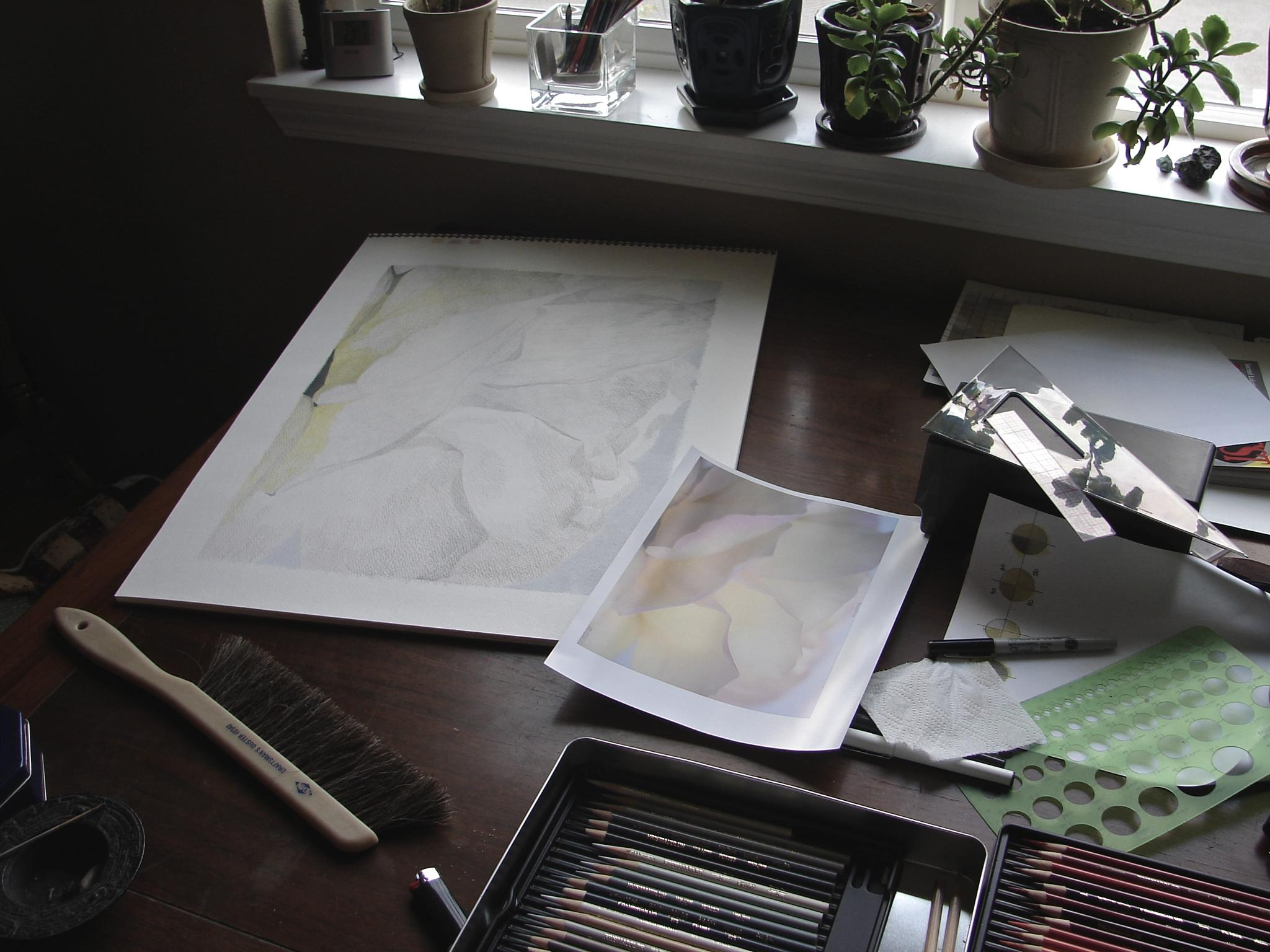 The Artist's Table by MelanieAnnePhillips
