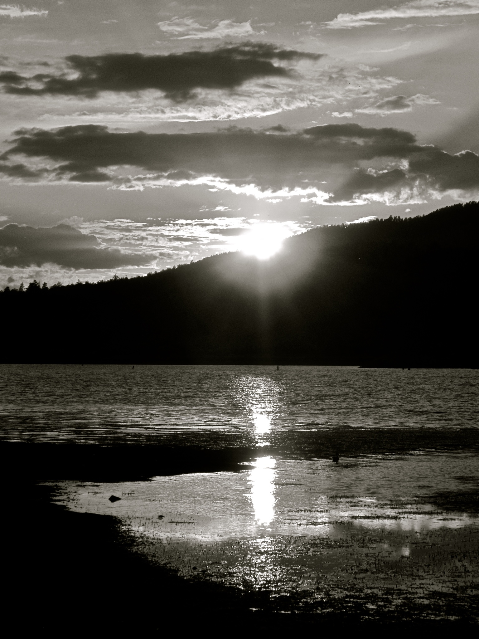 Sunset on Big Bear Lake 6:40:47 PM by MelanieAnnePhillips