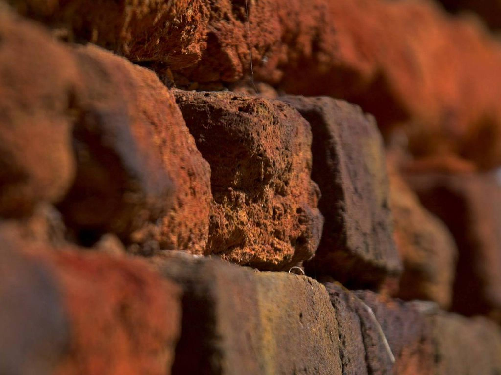 Bricks from the flood controlling wall, Hódmezővásárhely, Hungary by Kenéz Imre