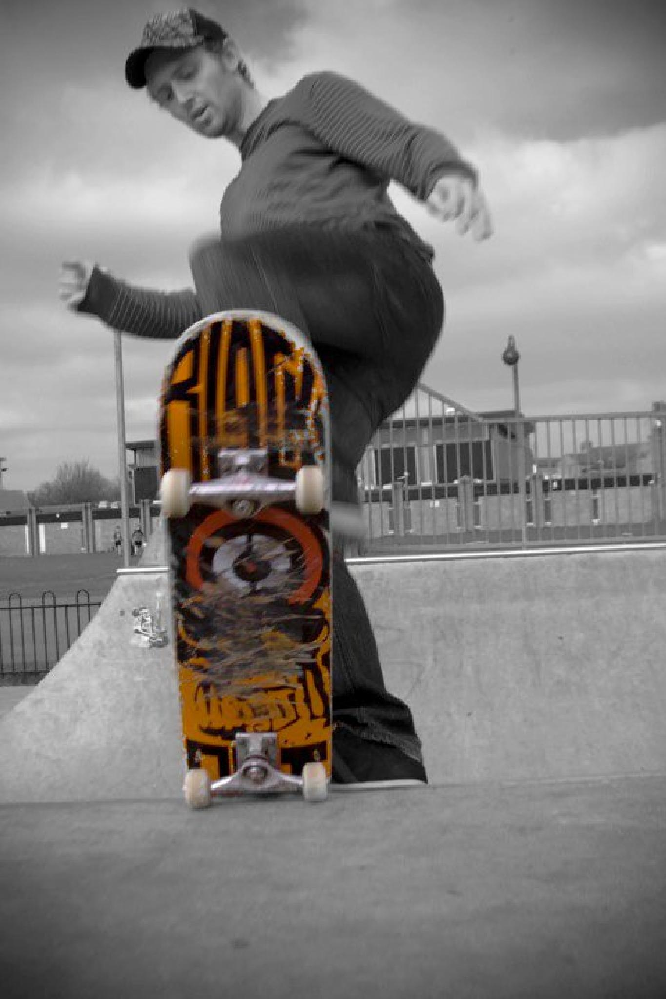 Skate park, board colour pop by shorey