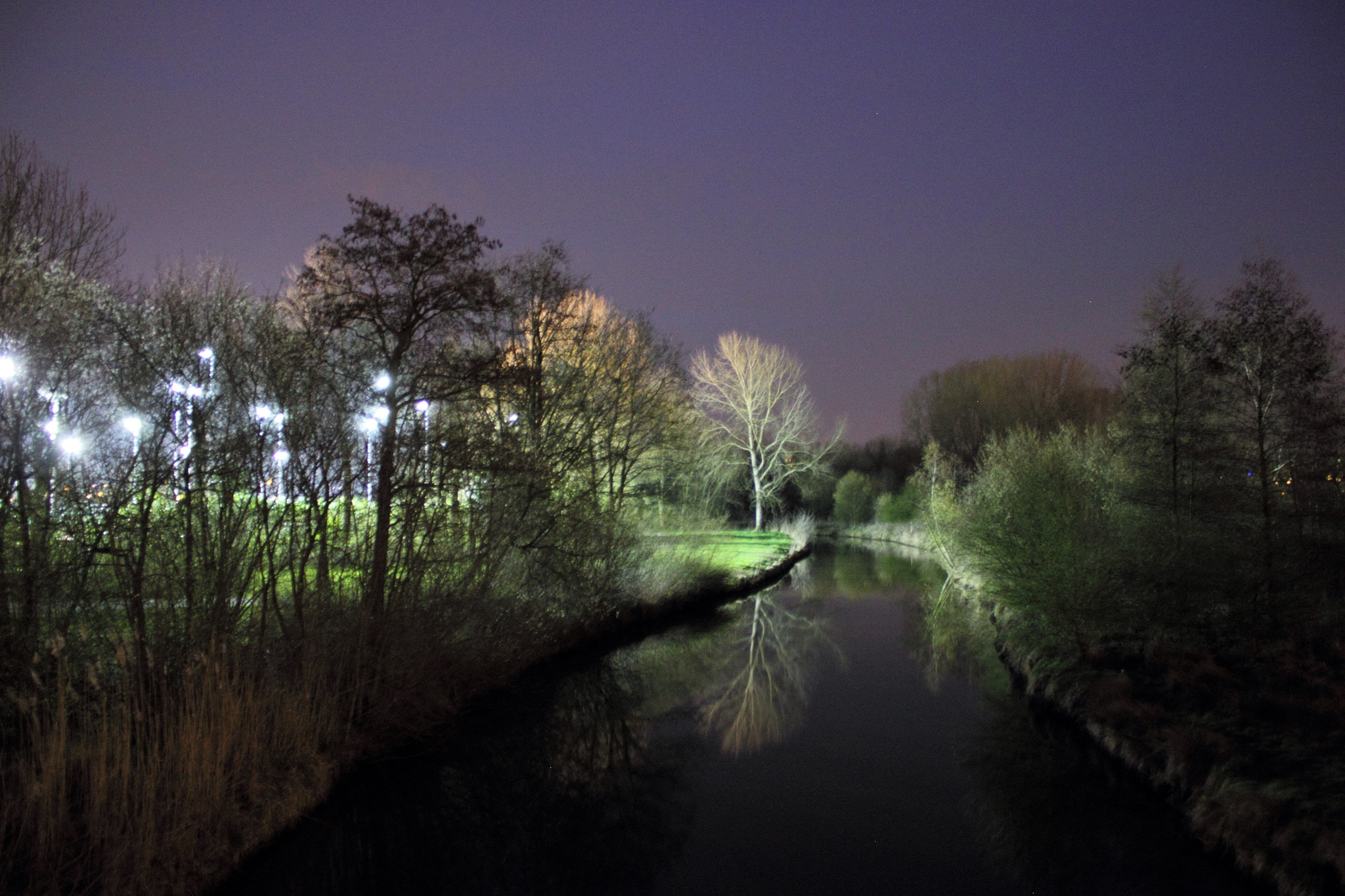 "River ""De Dommel"" by night by Jette Reitsma"