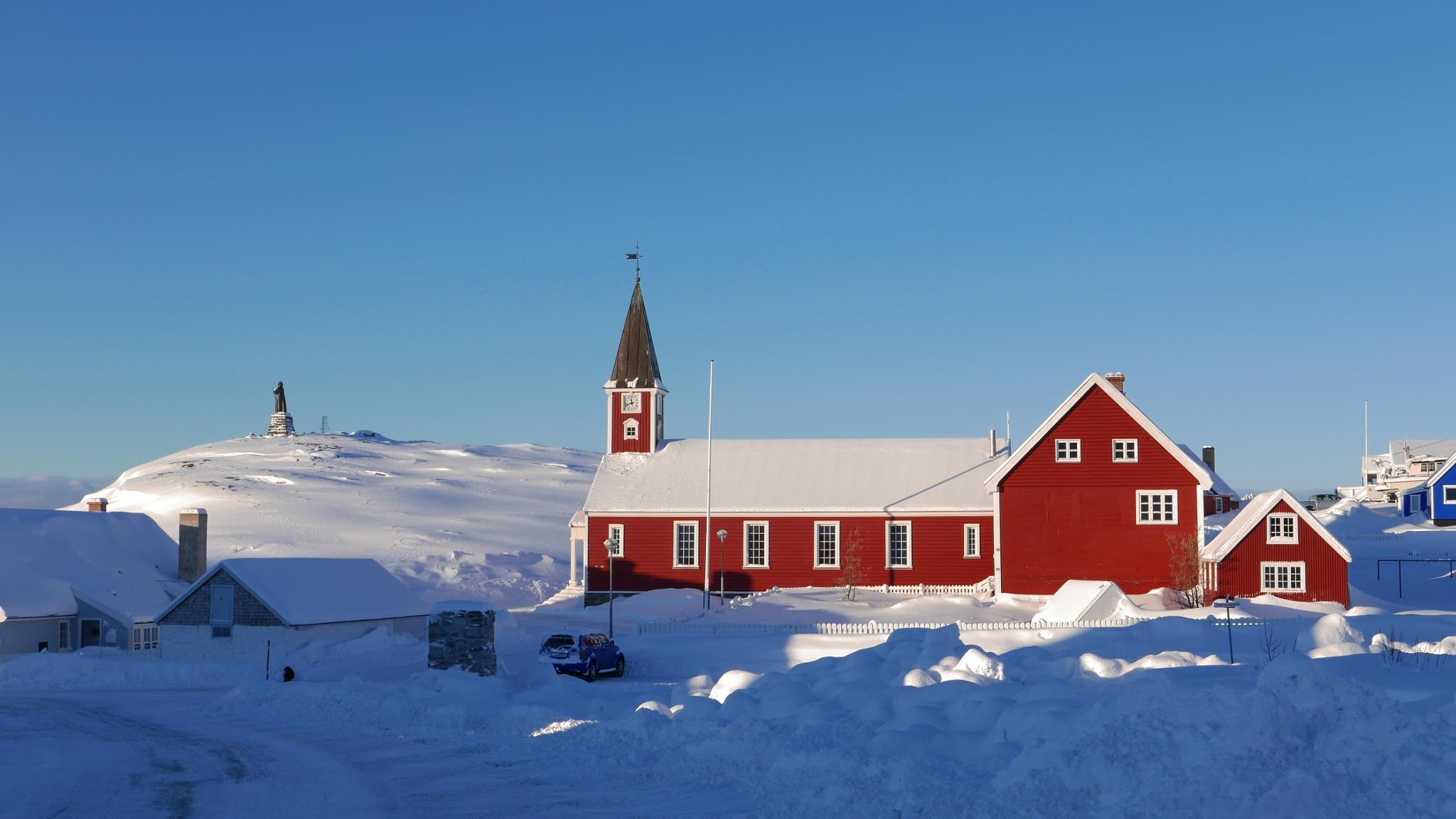 old church Nuuk loved off the old citizen on town by Tom Augo Lynge
