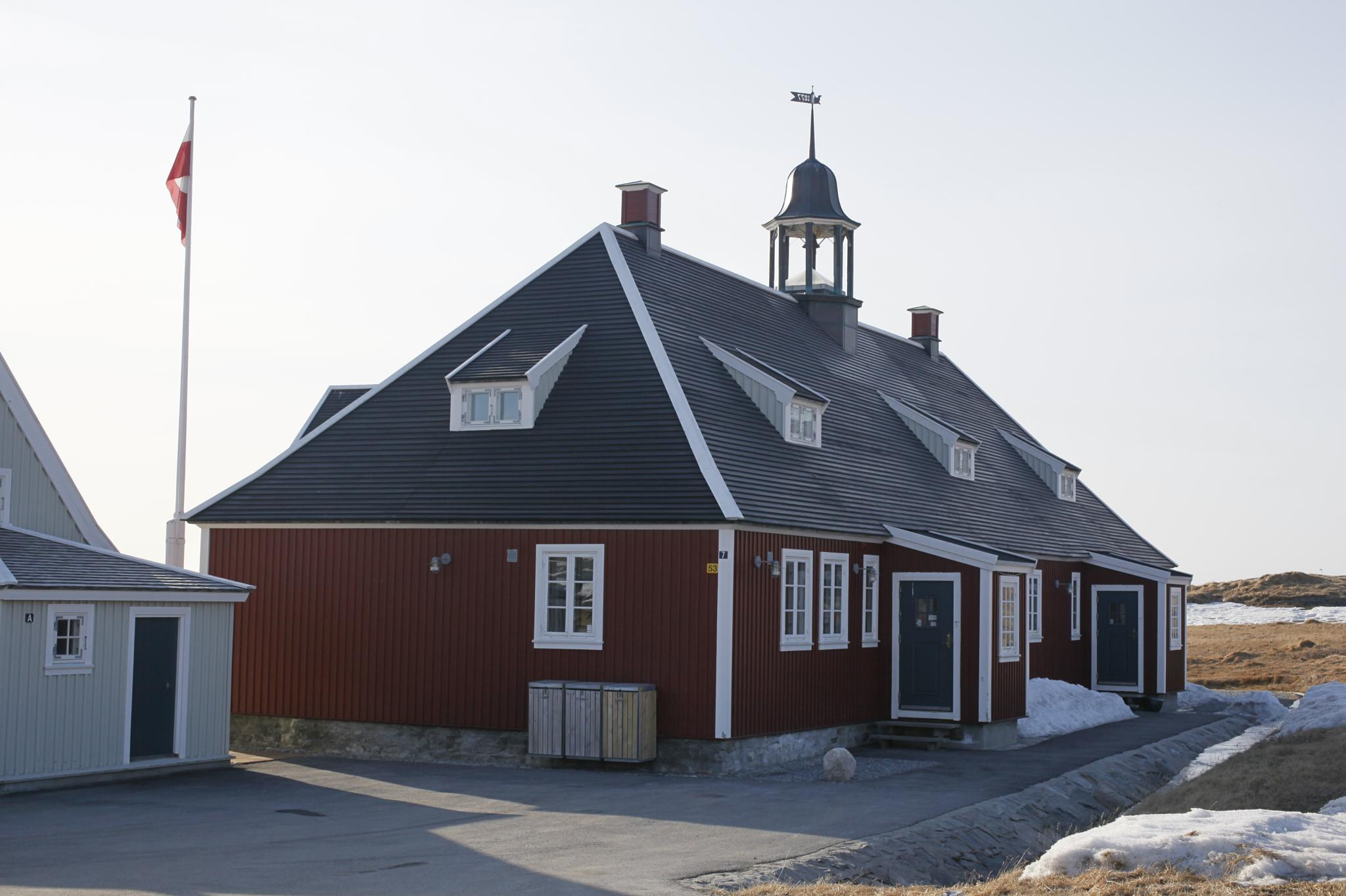the old hernhut church from medio 1700 , mostly greenlanders is protestant cristain. by Tom Augo Lynge