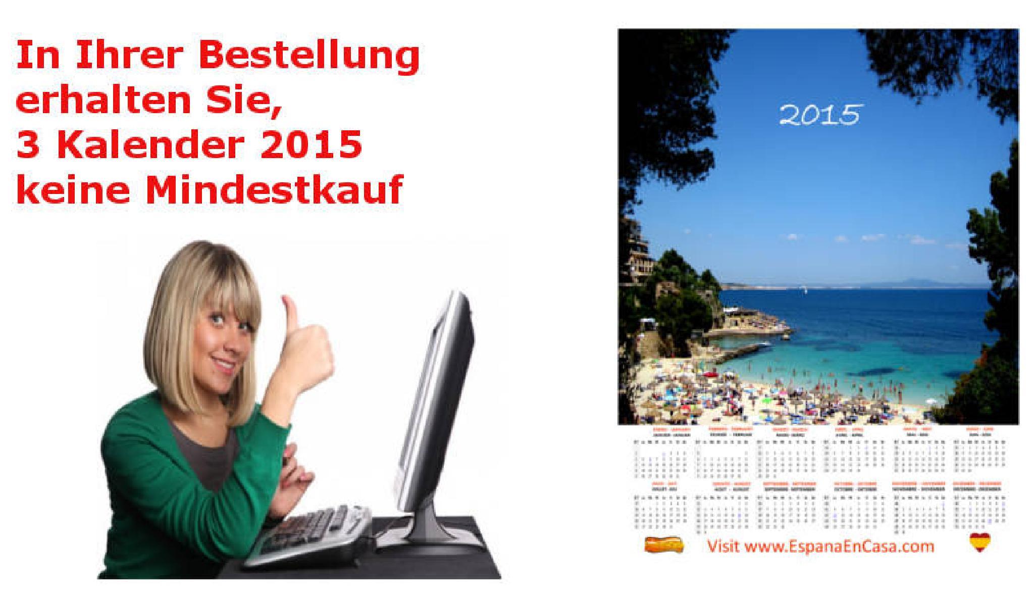 Erhalten Sie 3 Kalender mit Ihrer Bestellung ohne Mindestabnahme by EspanaenCasaDE