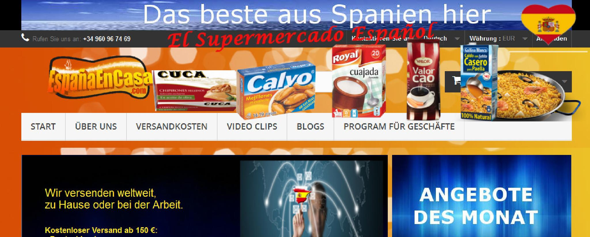 Spanisch Lebensmittelgeschäft online  by EspanaenCasaDE