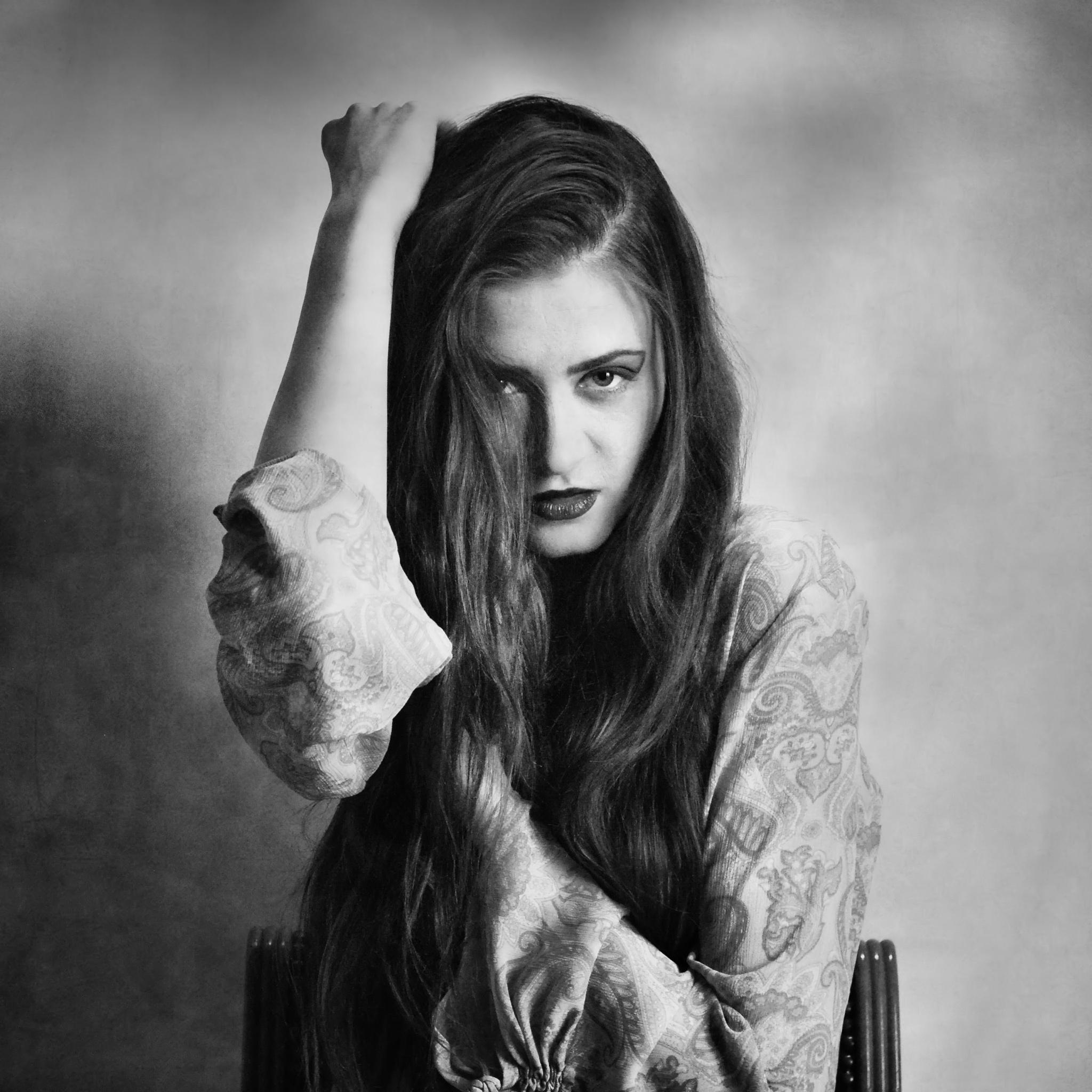 Photo in Portrait #woman #b&w #mood #art