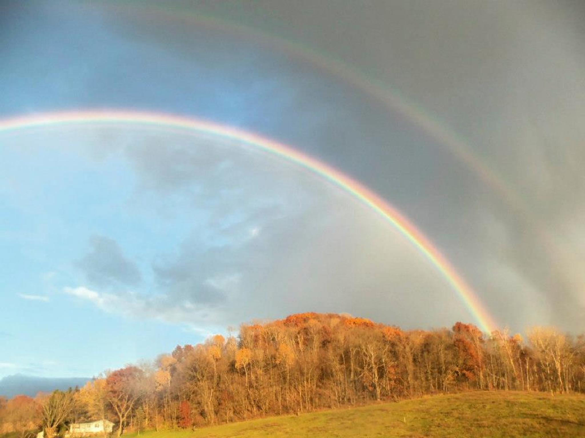 Triple Rainbow in rural Wisconsin by darlene.tagliapietra