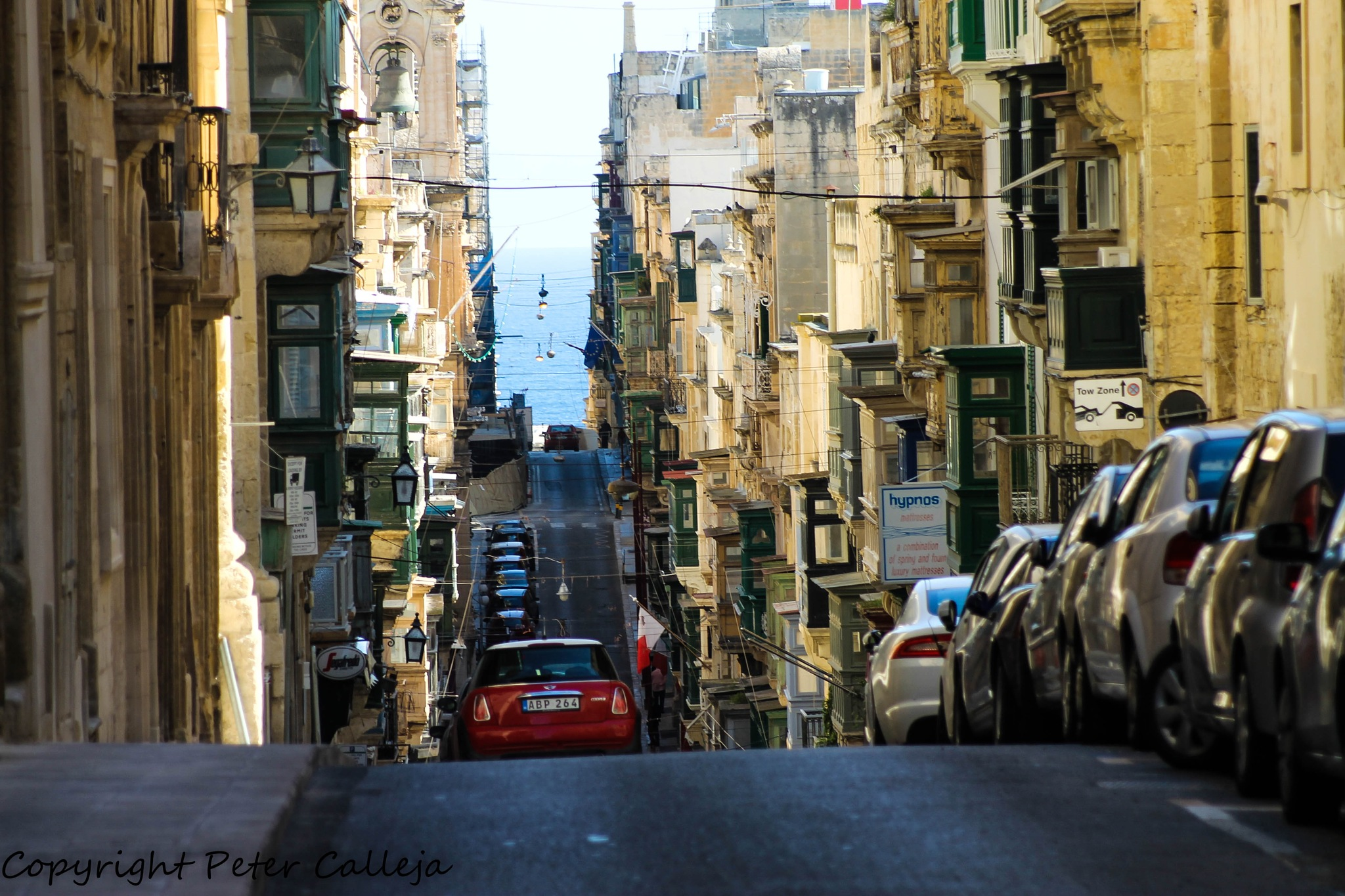 Valletta street by Peter Calleja