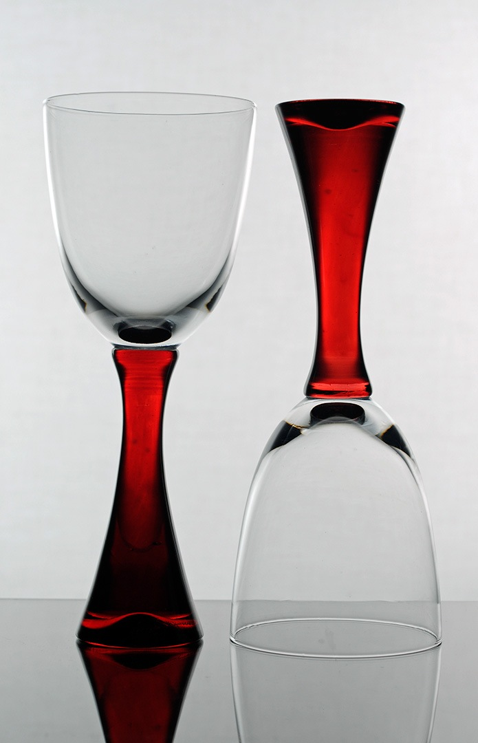 Red Stem Glasses by Francis Lappe