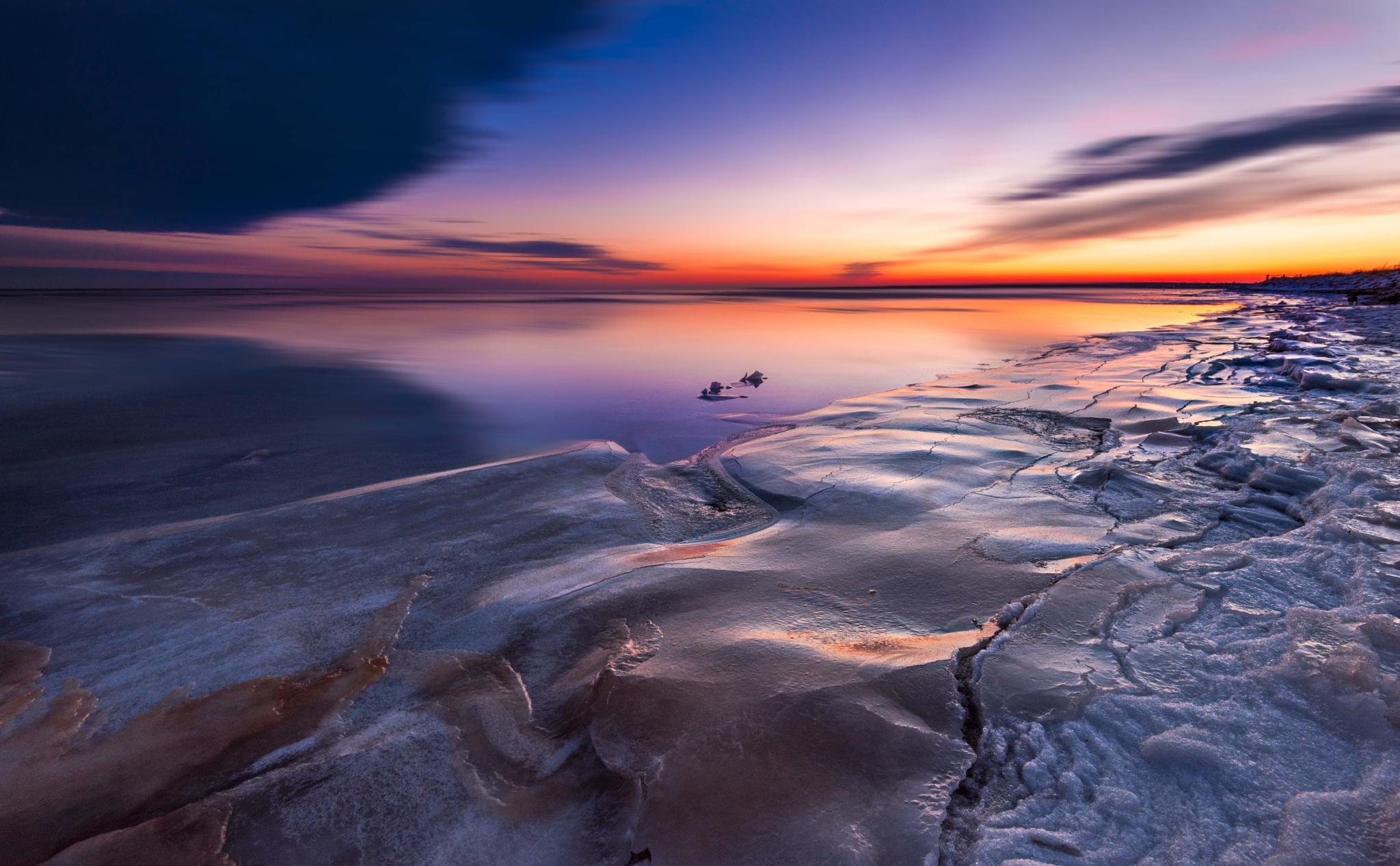 Icy Beach by Alec Hickman
