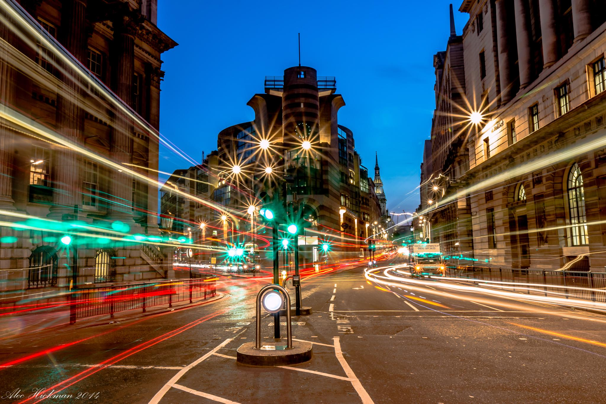 Traffic in the city of London by Alec Hickman