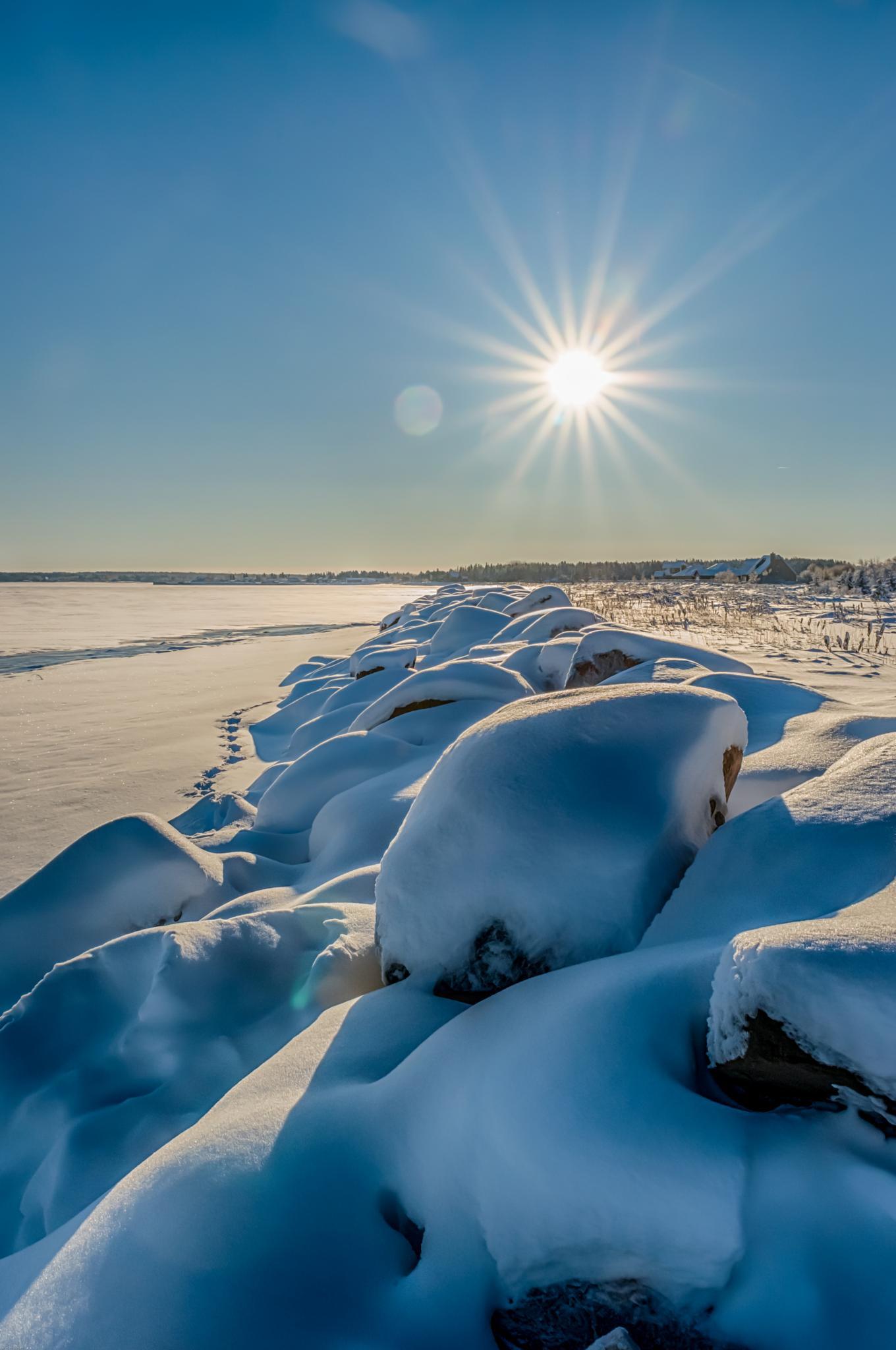 Winter beach by Alec Hickman