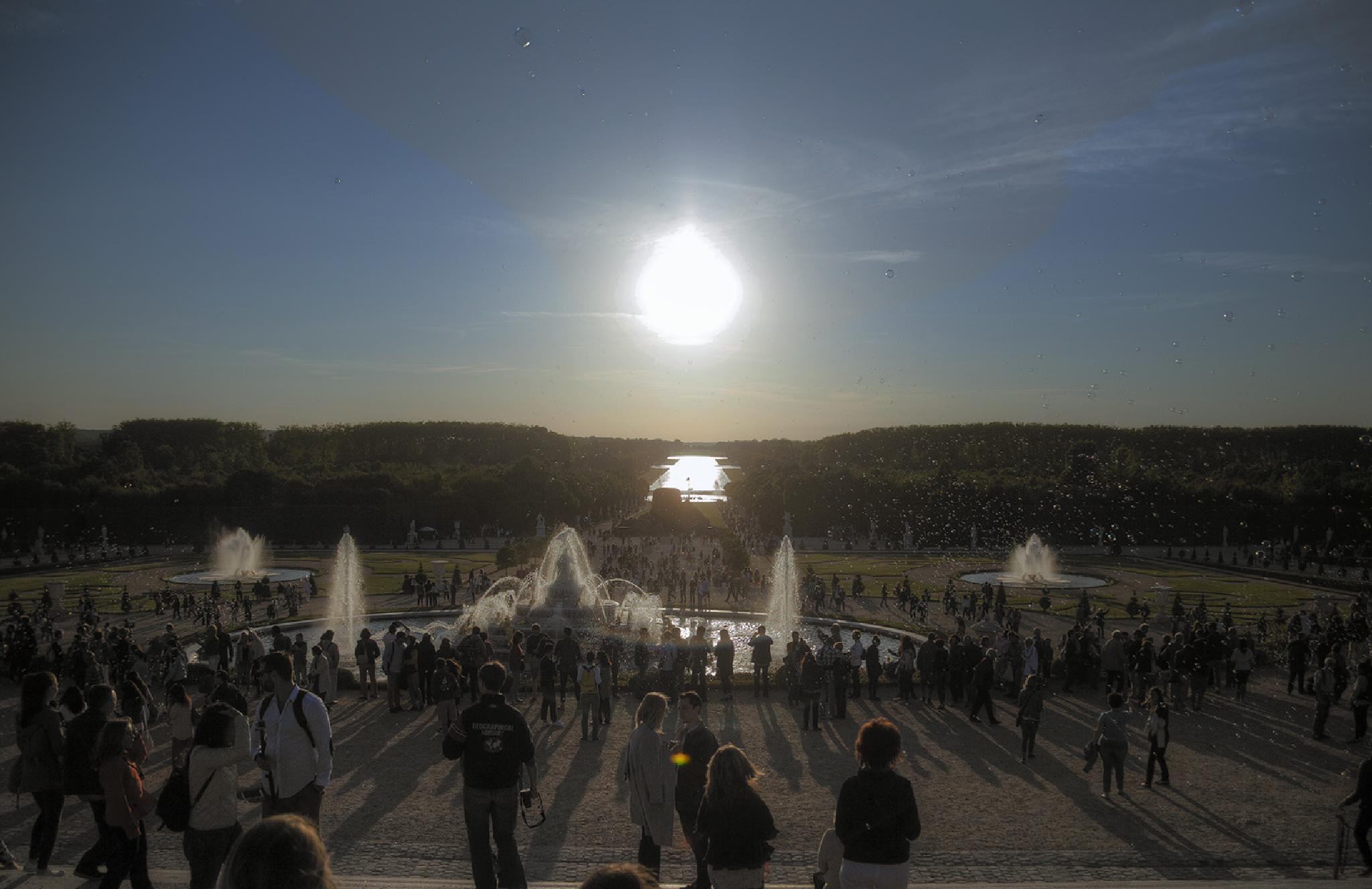 Sunset at Versailles by harald.seiwert