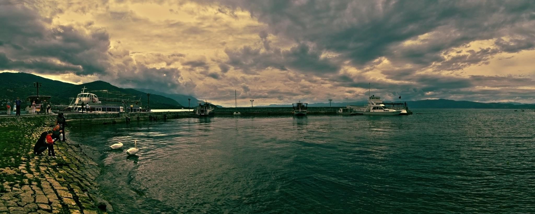Ohrid port by dimce.korunoski