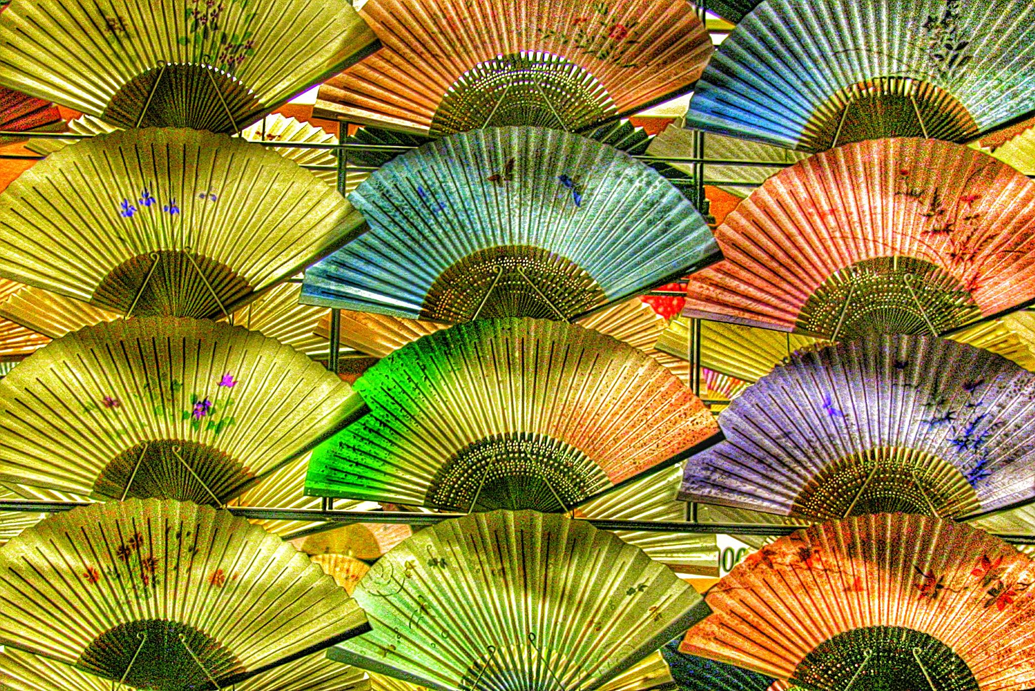 Japanese fans, Kyoto by 3dotstudio